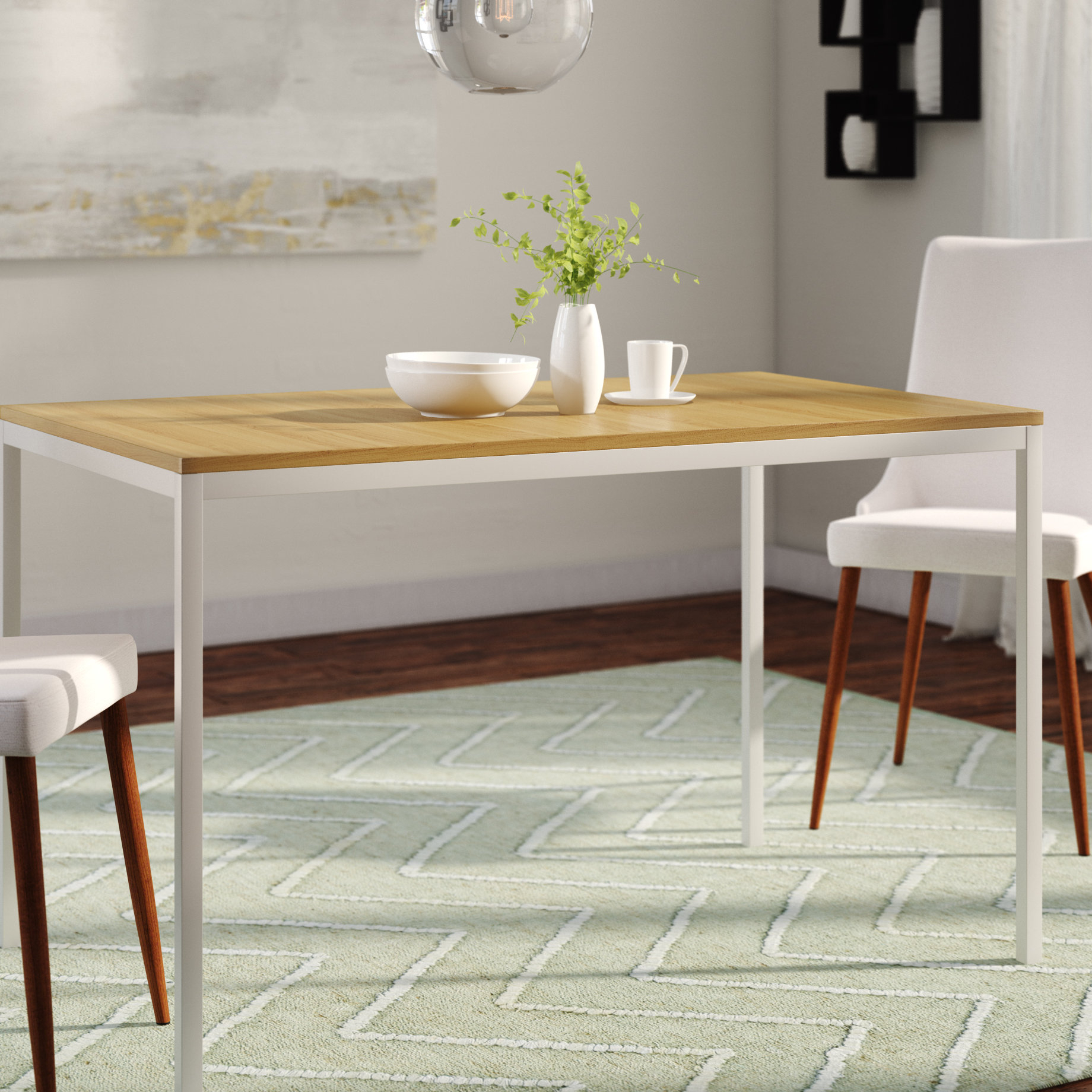 Chelmsford 3 Piece Dining Sets Pertaining To Famous Frida Dining Table (Gallery 18 of 20)