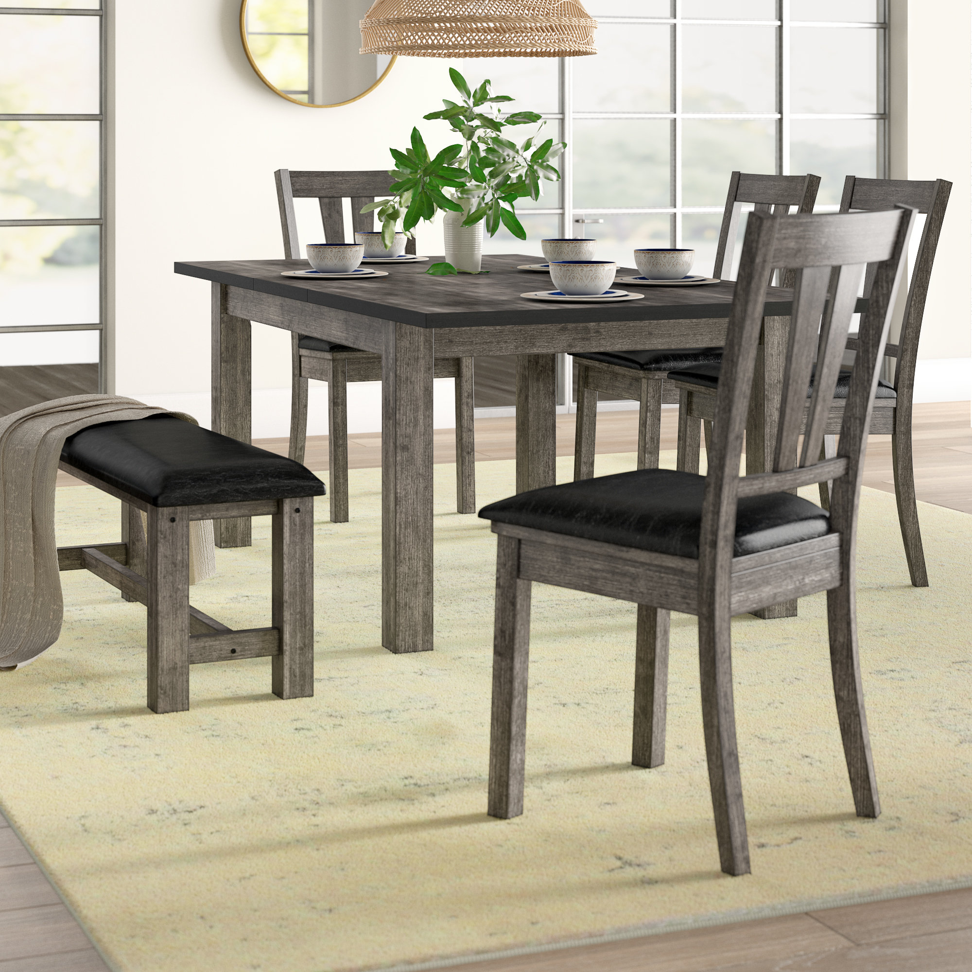 Chelmsford 3 Piece Dining Sets Throughout Favorite Katarina 6 Piece Extendable Solid Wood Dining Set (View 12 of 20)