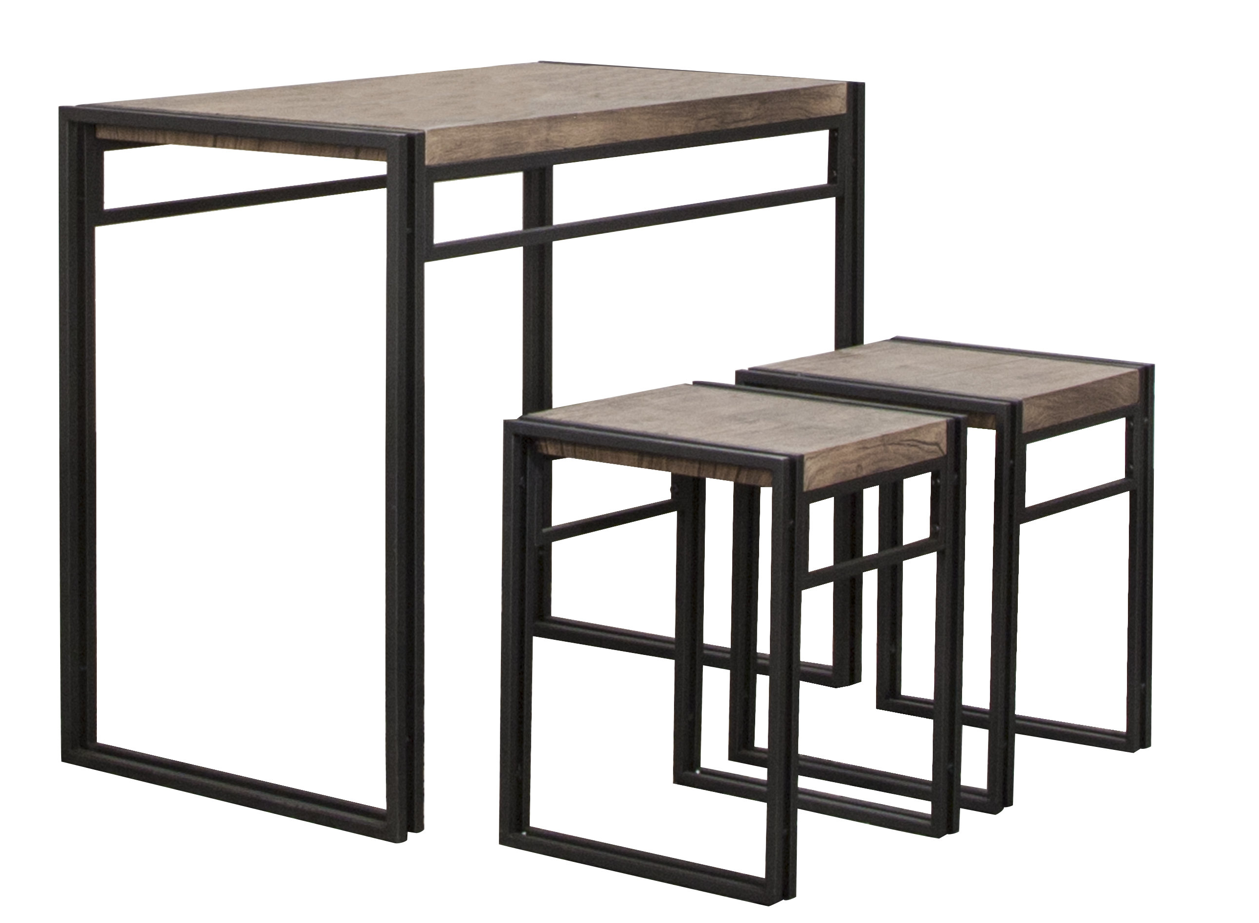 Chitwood 3 Piece Counter Height Dining Set With Regard To Trendy Mizpah 3 Piece Counter Height Dining Sets (View 2 of 20)