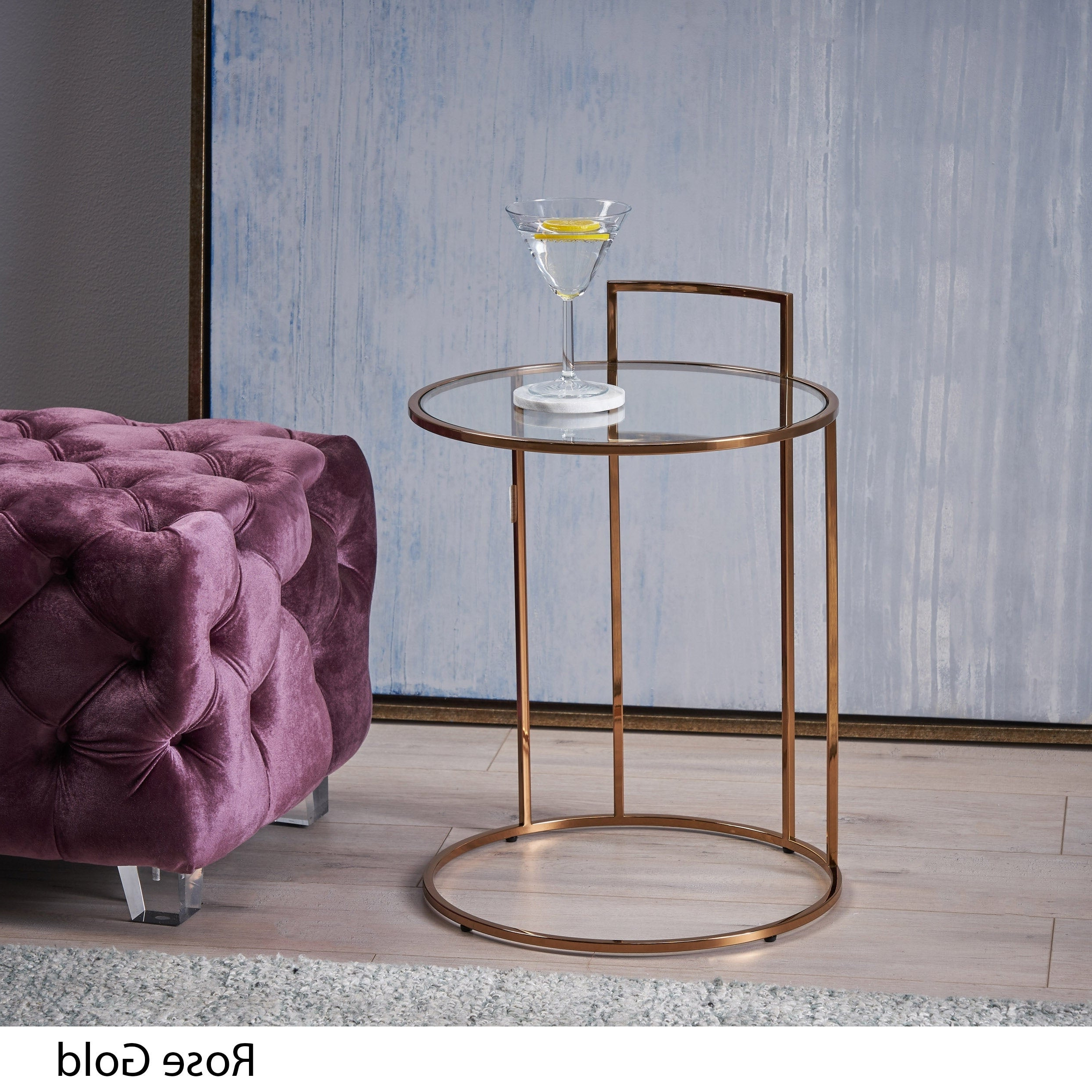 Christopher Knight Home Isolde Glam Tempered Glass Side Table With Regard To Current Isolde 3 Piece Dining Sets (View 14 of 20)