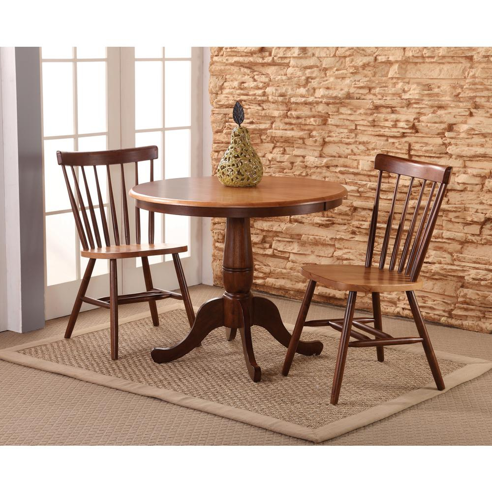 Copenhagen 3 Piece Black And Cherry Dining Set For Well Known 3 Piece Dining Sets (View 19 of 20)