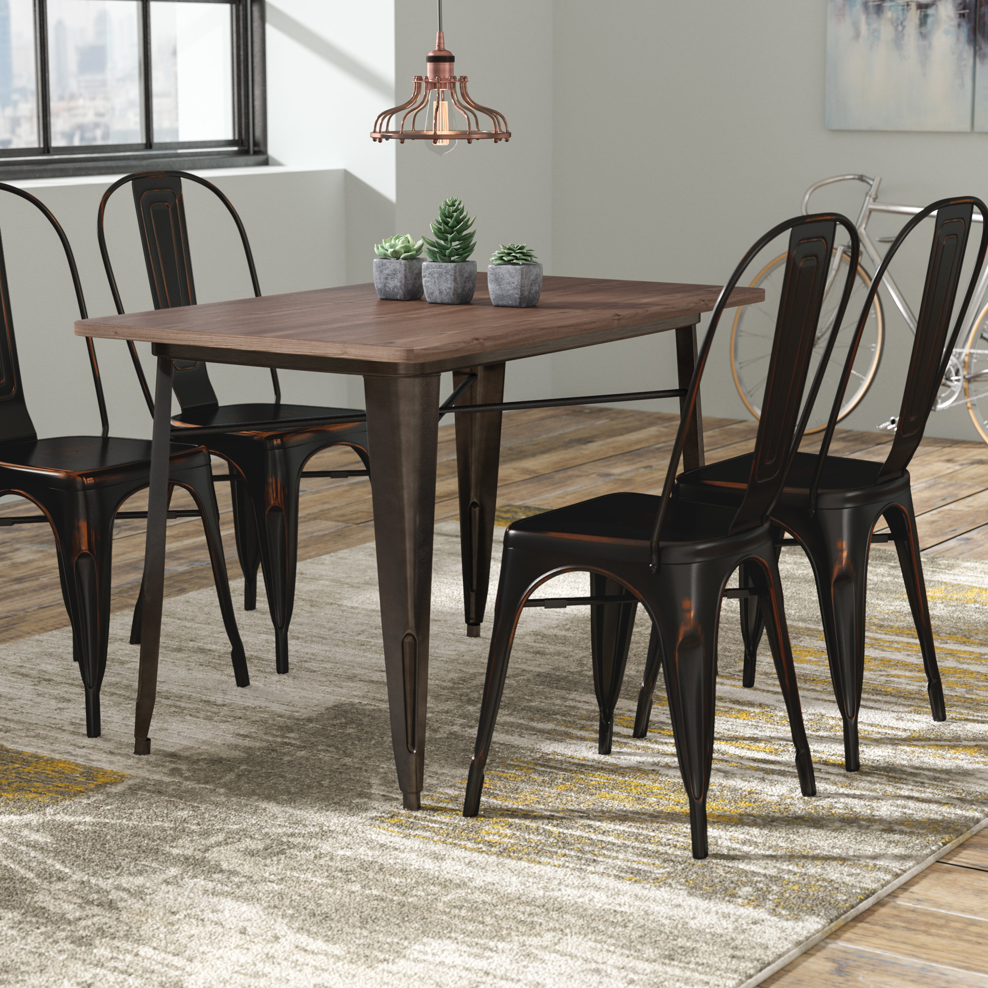 Croley 5 Piece Dining Set For Fashionable Tejeda 5 Piece Dining Sets (View 1 of 20)