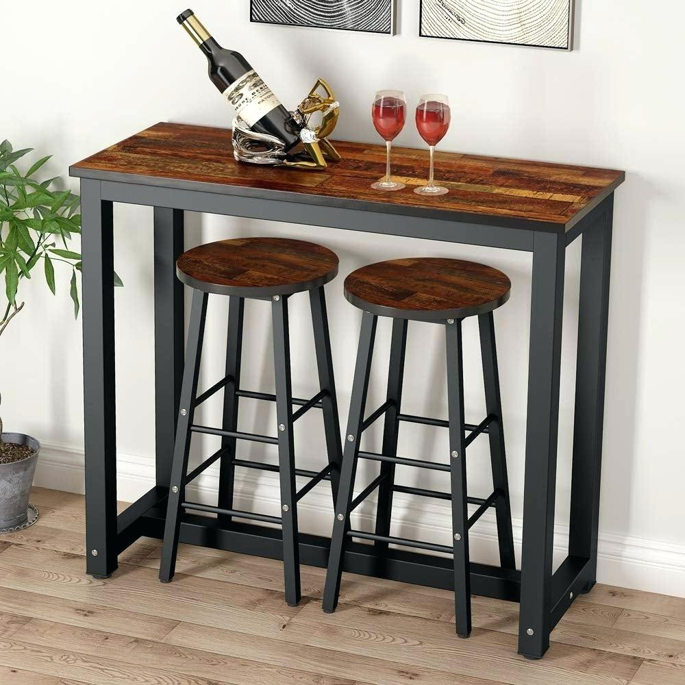 Crownover 3 Piece Bar Table Sets Throughout Favorite Bar Table Set – Thersacraft (View 7 of 20)