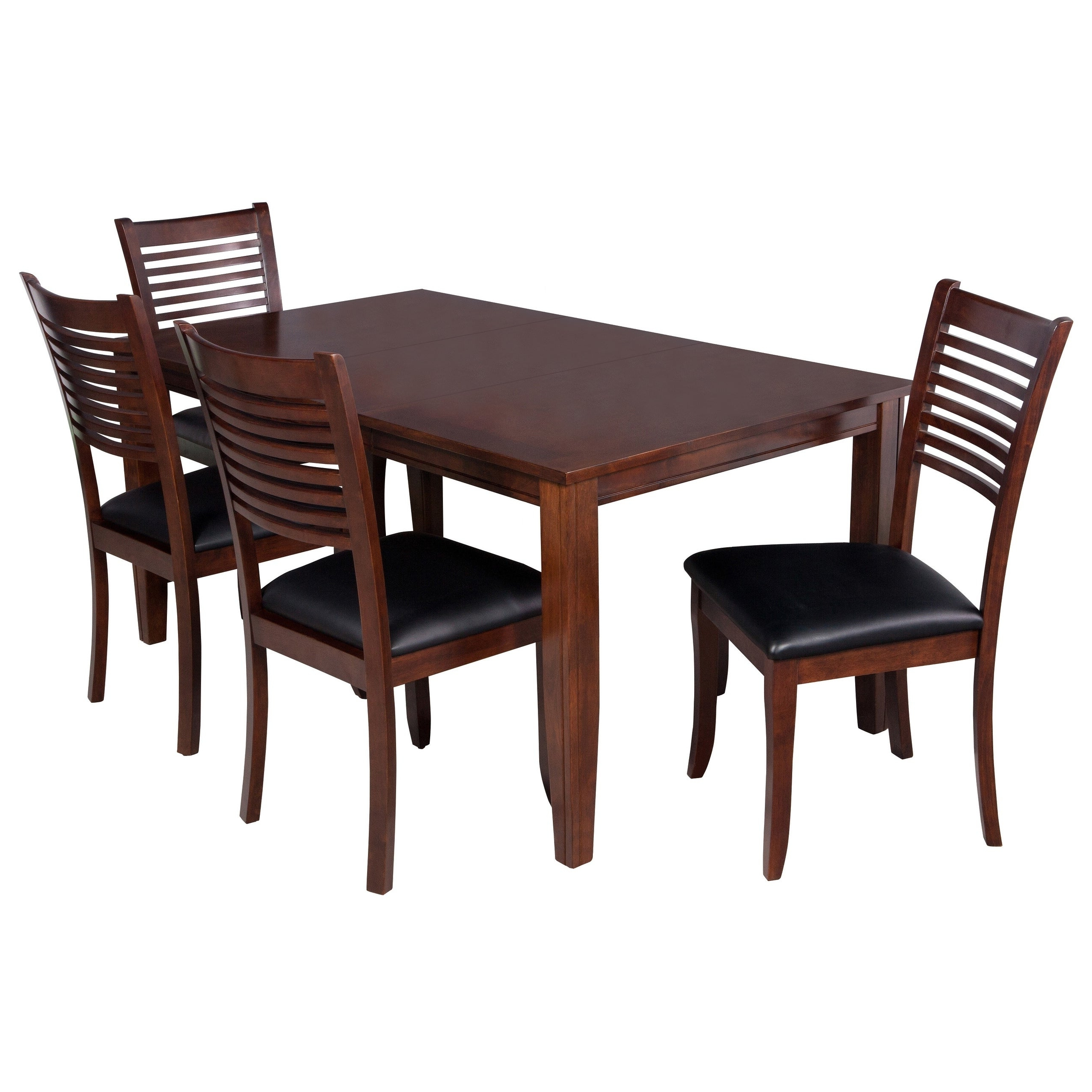 """Current Adan 5 Piece Solid Wood Dining Sets (Set Of 5) Regarding 5 Piece Solid Wood Dining Set """"aden"""", Modern Kitchen Table Set, Espresso (Gallery 6 of 20)"""