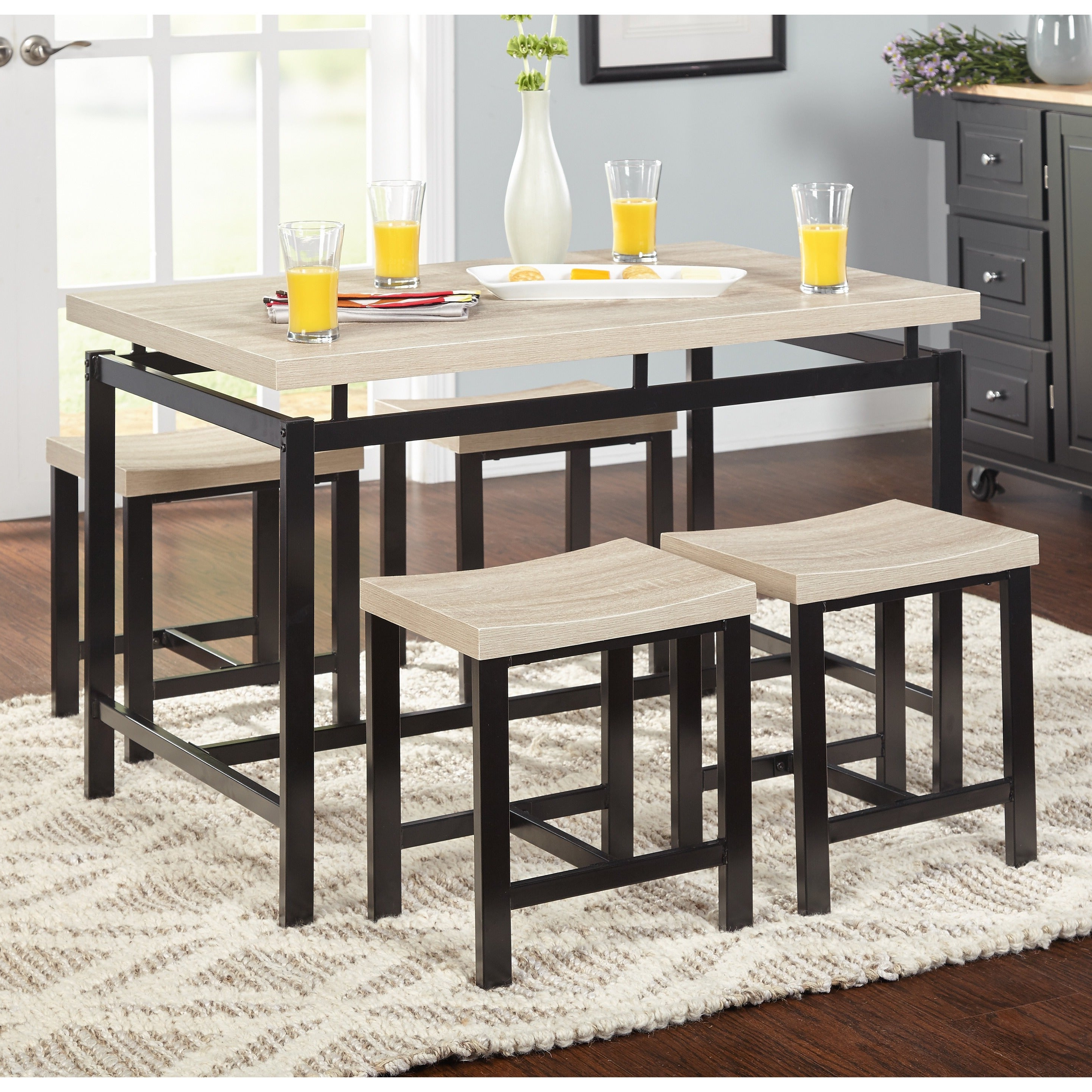 Current Cincinnati 3 Piece Dining Sets Within Buy Breakfast Nook Kitchen & Dining Room Sets Online At Overstock (View 7 of 20)