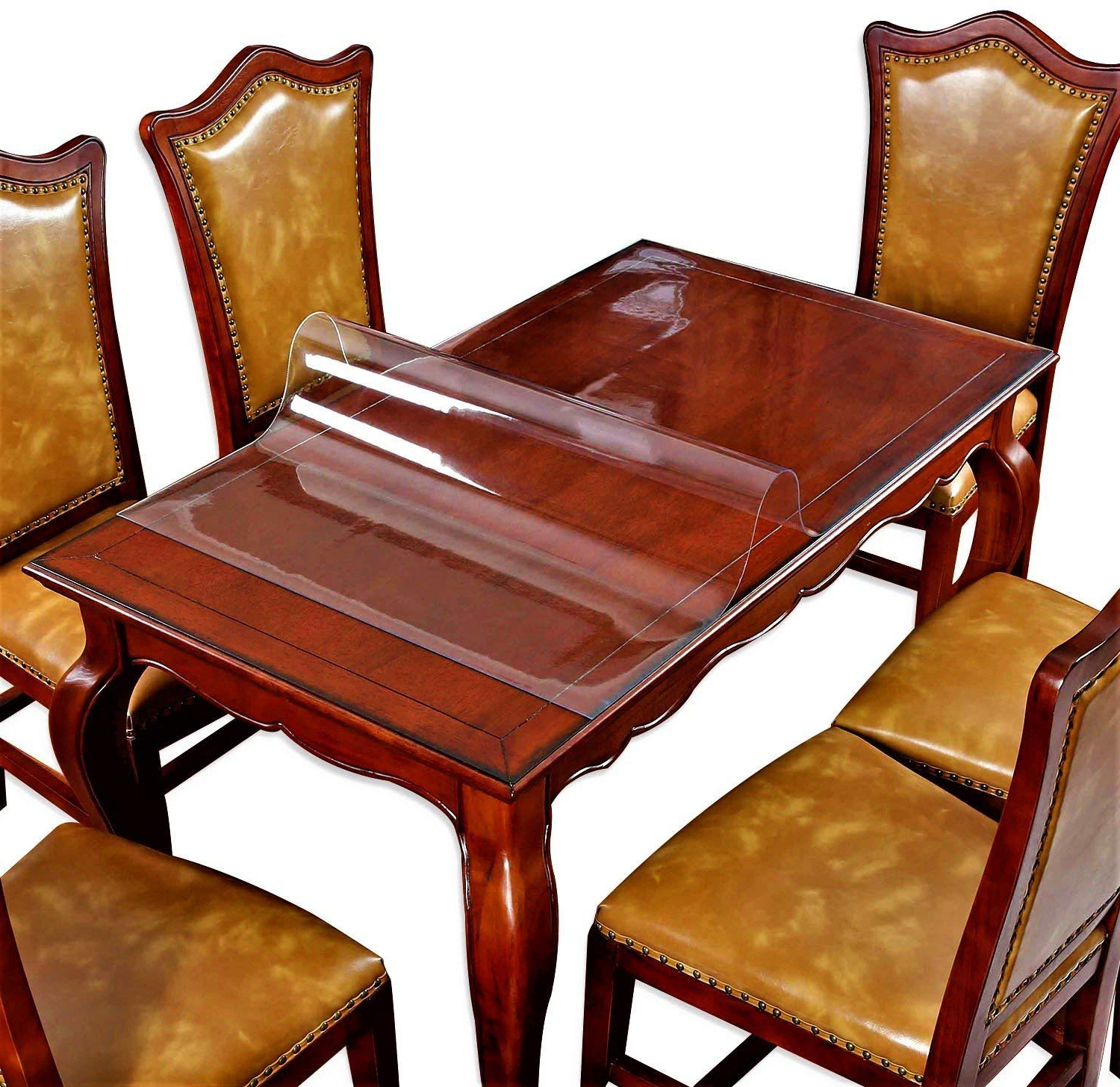 Current Clear Table Cover Protector Desk Pads Mats Wood Furniture Protective For Large Pub Bar Tabletop Countertop Topper Dining Coffee End Plastic Tablecloth Throughout Presson 3 Piece Counter Height Dining Sets (View 20 of 20)