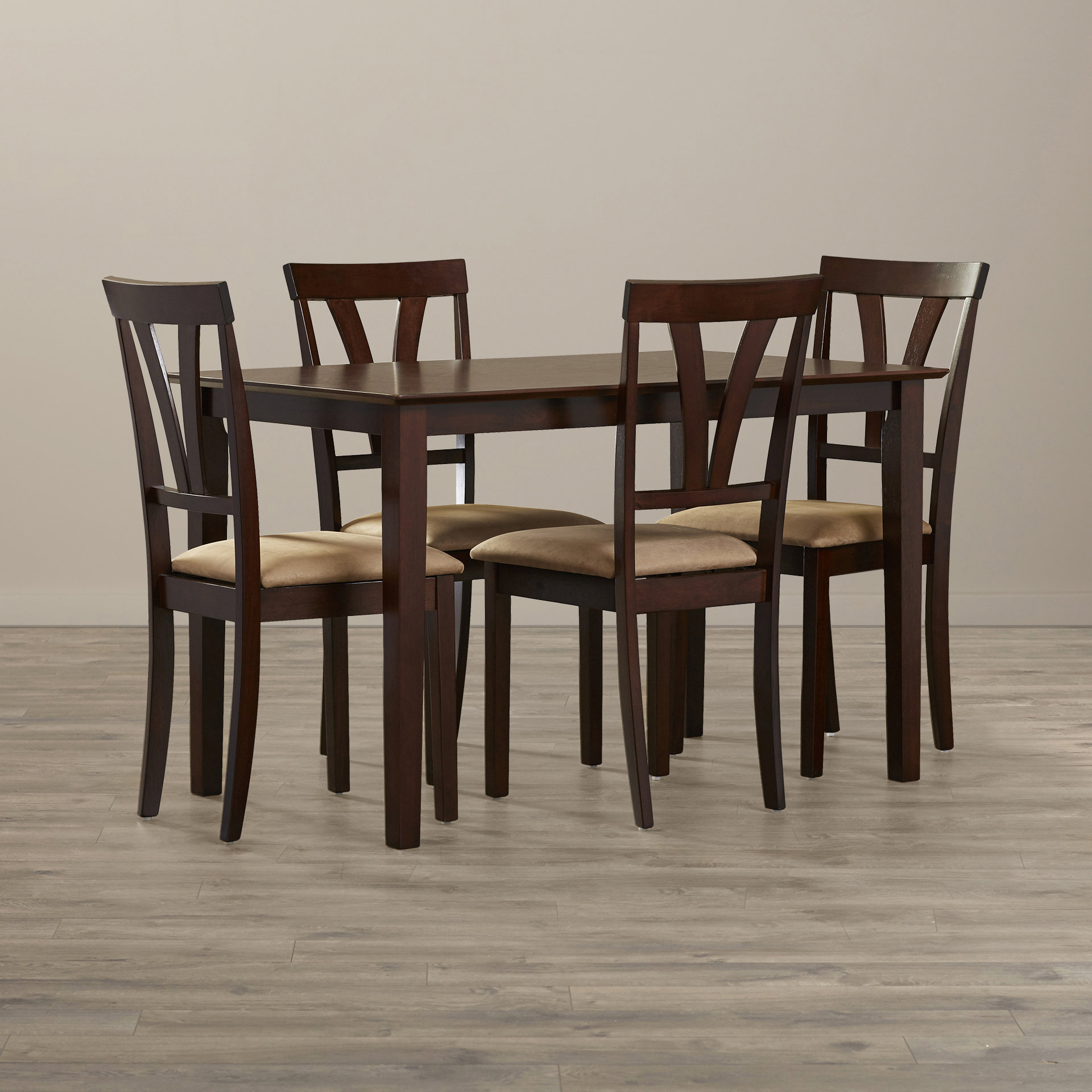 Current Donald 5 Piece Dining Set Within Pattonsburg 5 Piece Dining Sets (View 4 of 20)