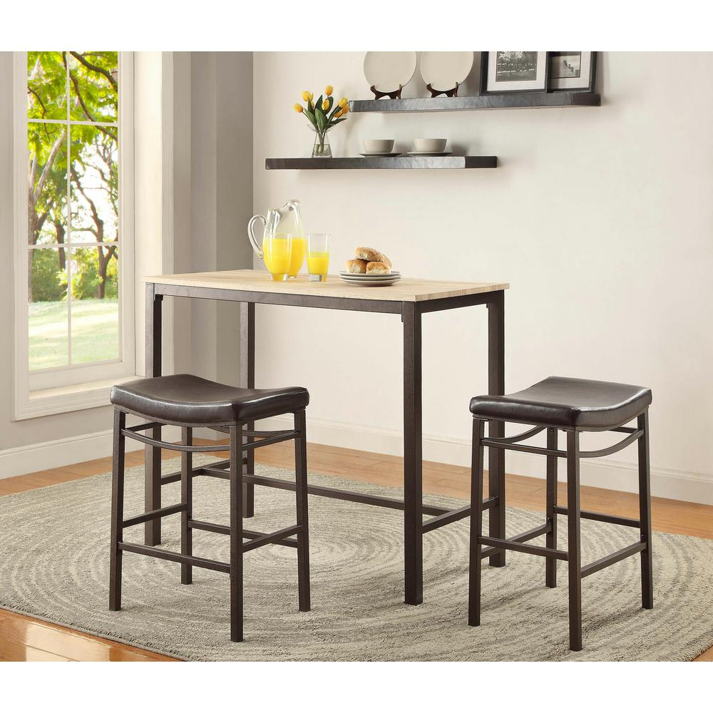 Current Home Pub Table Set – Table Design Ideas With Smyrna 3 Piece Dining Sets (Gallery 20 of 20)