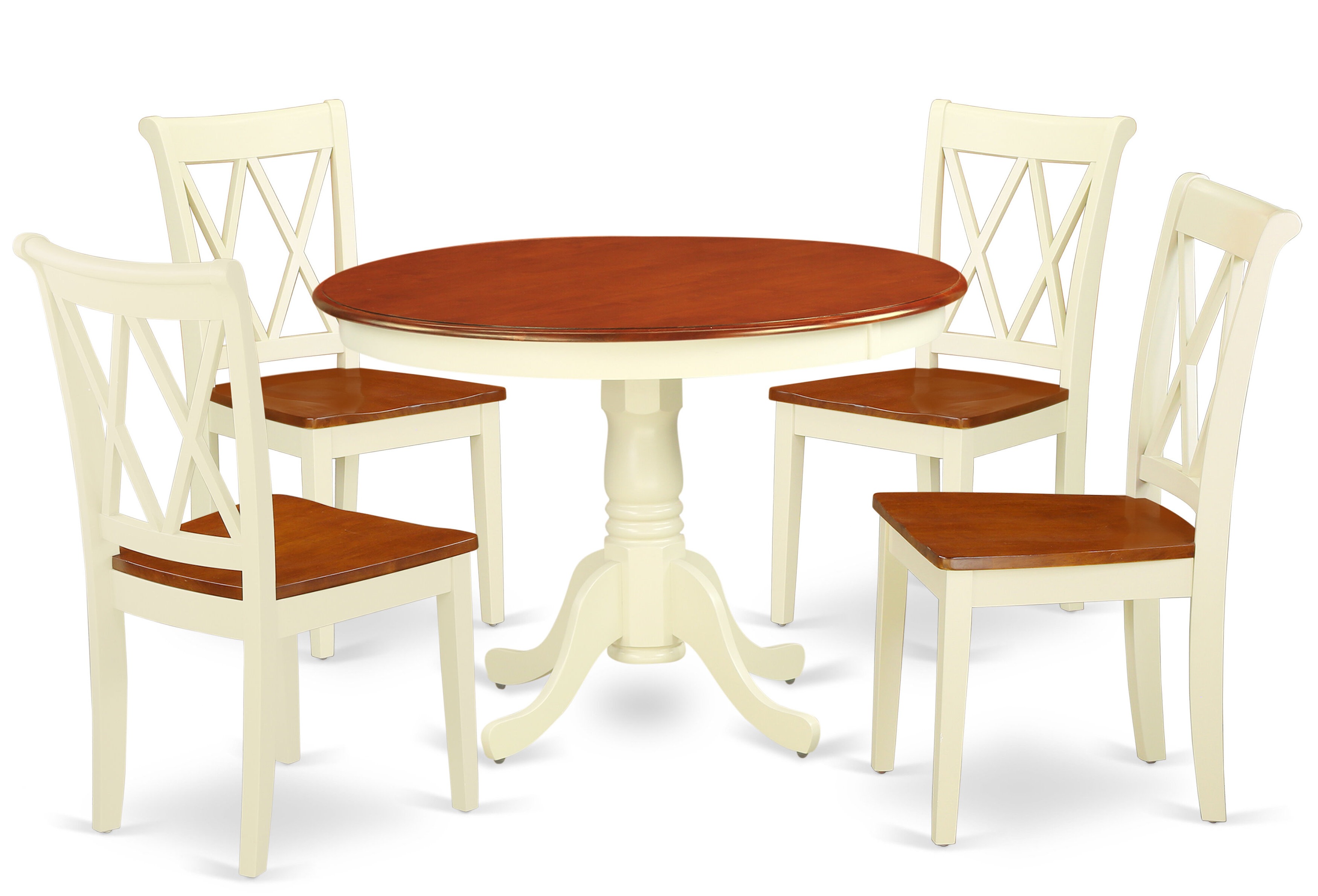 Current Kuhl 5 Piece Solid Wood Dining Set Regarding Lamotte 5 Piece Dining Sets (View 11 of 20)