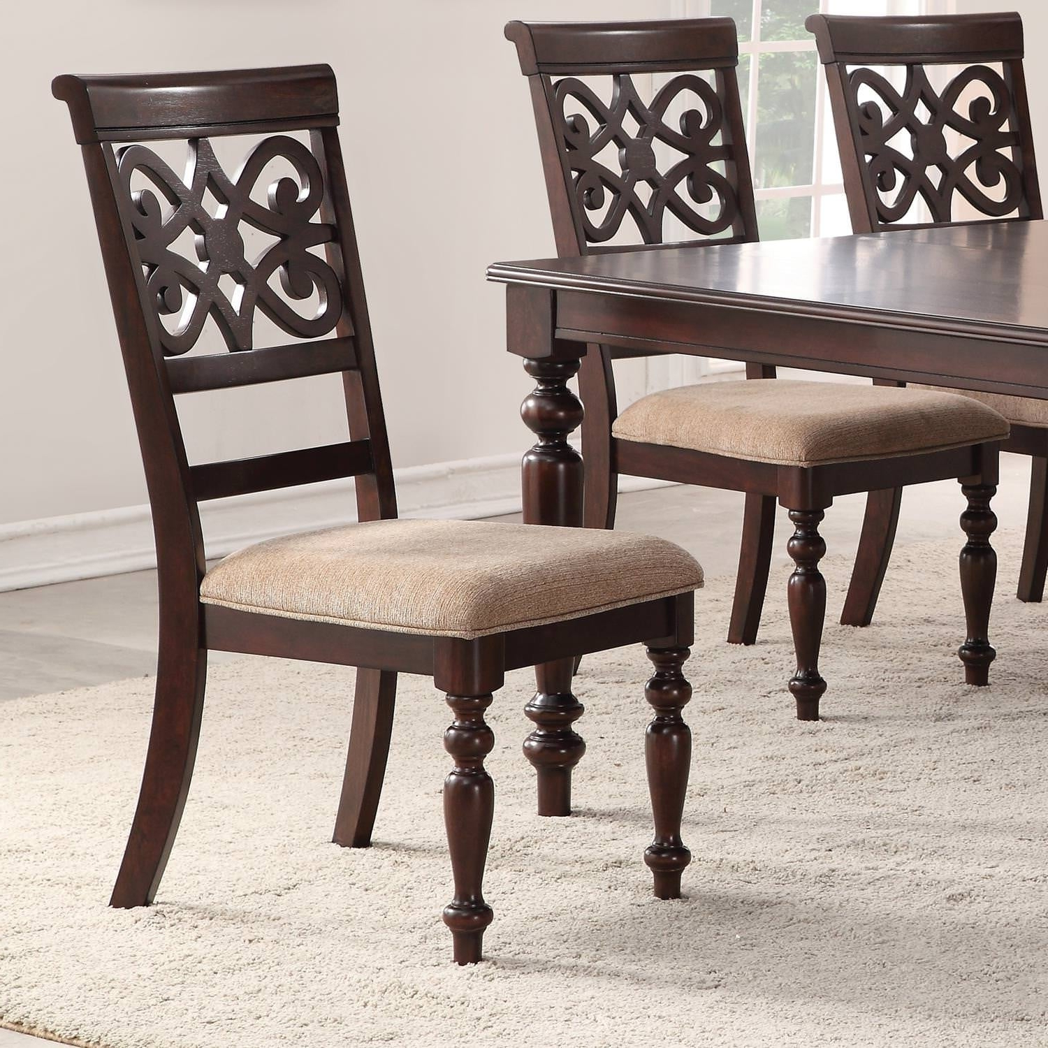 Current Laconia 7 Pieces Solid Wood Dining Sets (set Of 7) For Home Source Laconia Walnut 5 Piece Dining Set (View 10 of 20)