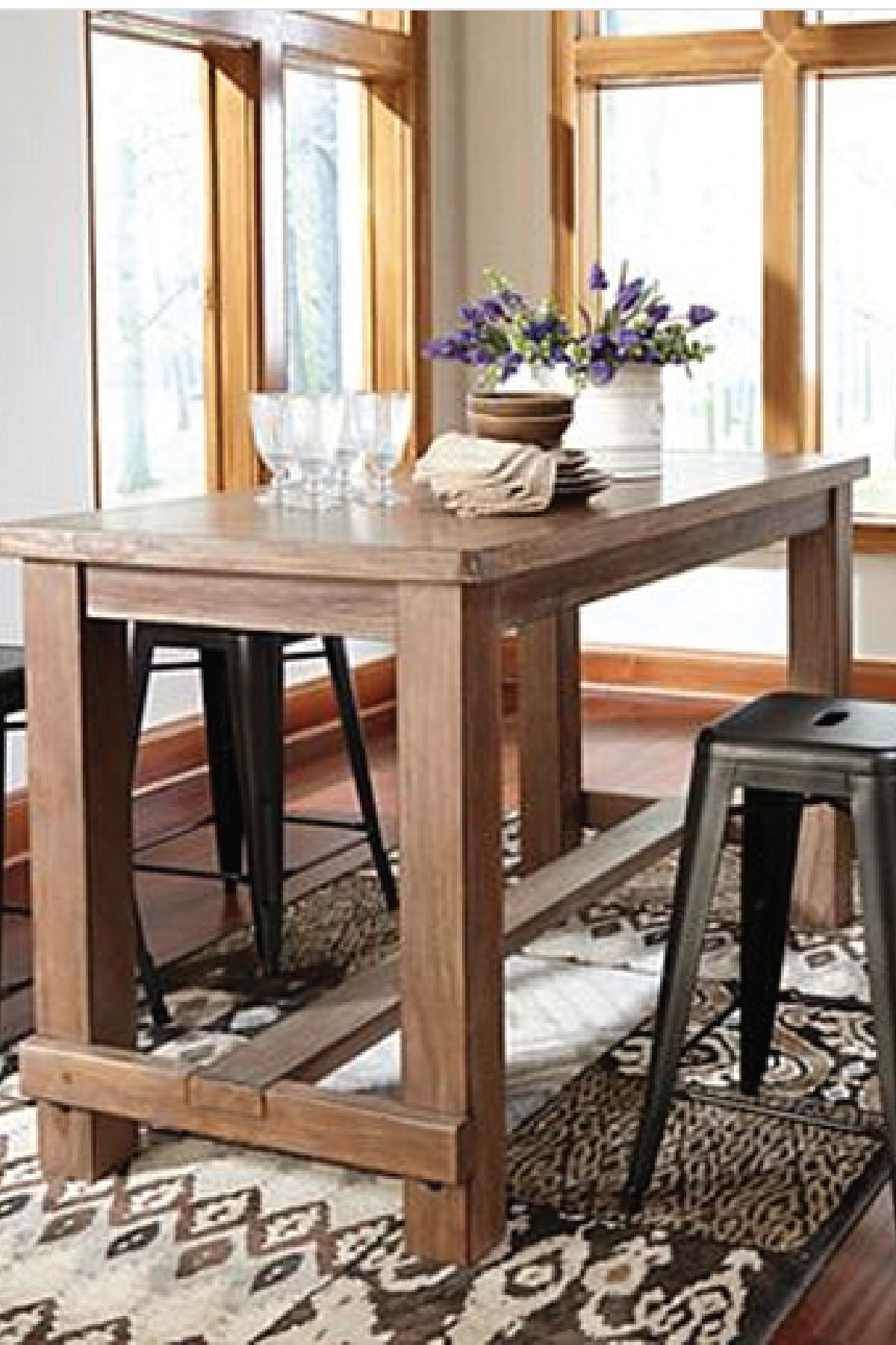 Current Northwoods 3 Piece Dining Sets With Bring This Counter Height Dining Room Table Into Your Home For A (View 4 of 20)