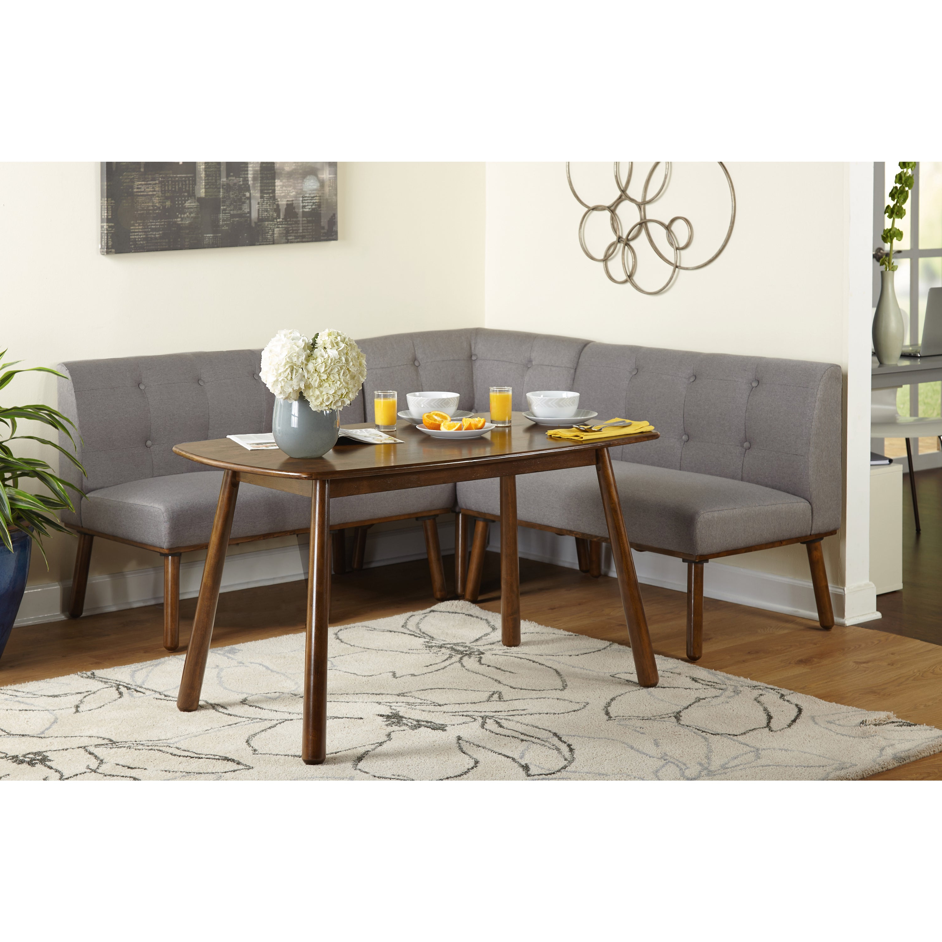 Current Simple Living 4 Piece Playmate Nook Dining Set Regarding Maloney 3 Piece Breakfast Nook Dining Sets (View 3 of 20)