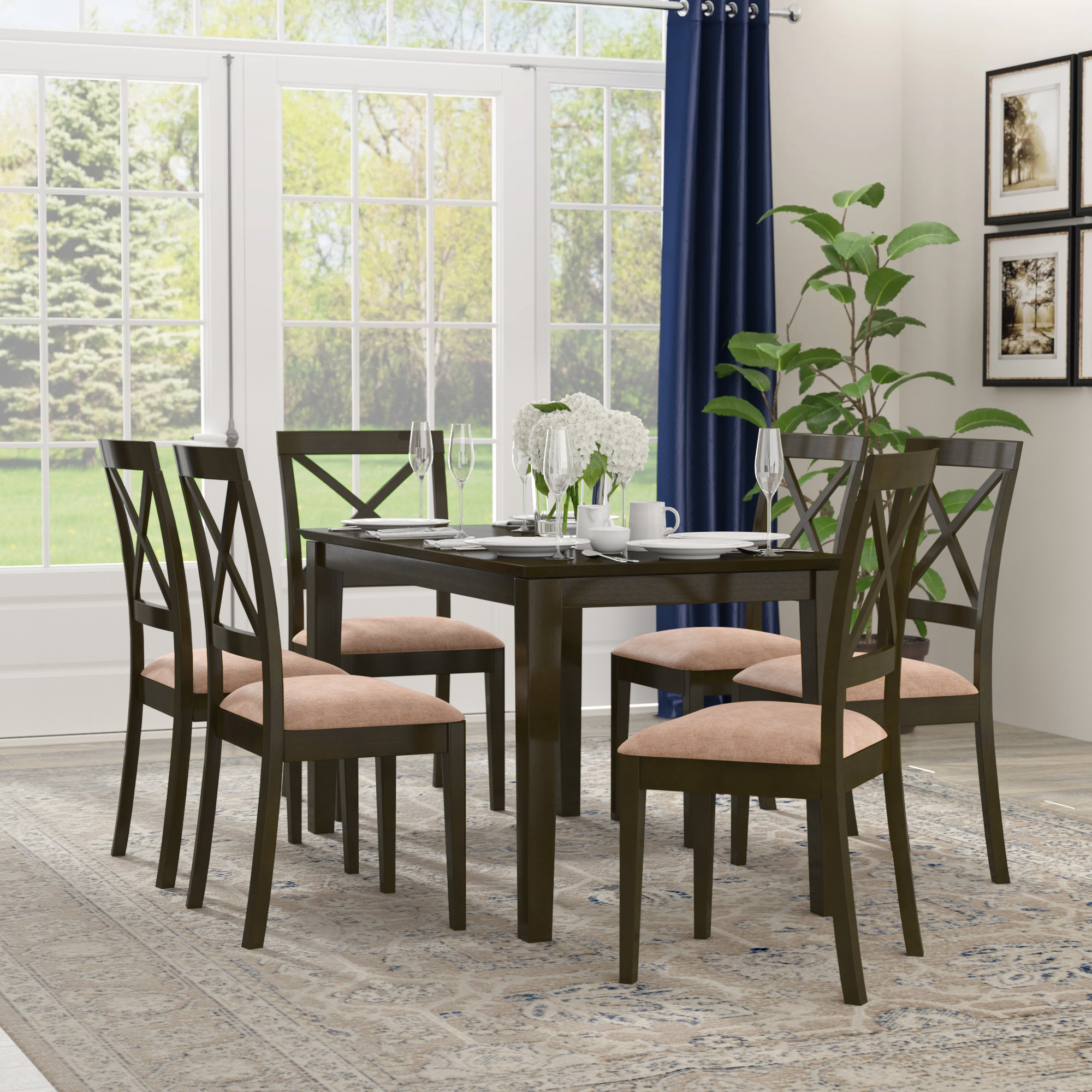 Current Smyrna Microfiber Upholstery 7 Piece Dining Set With Regard To Smyrna 3 Piece Dining Sets (View 3 of 20)