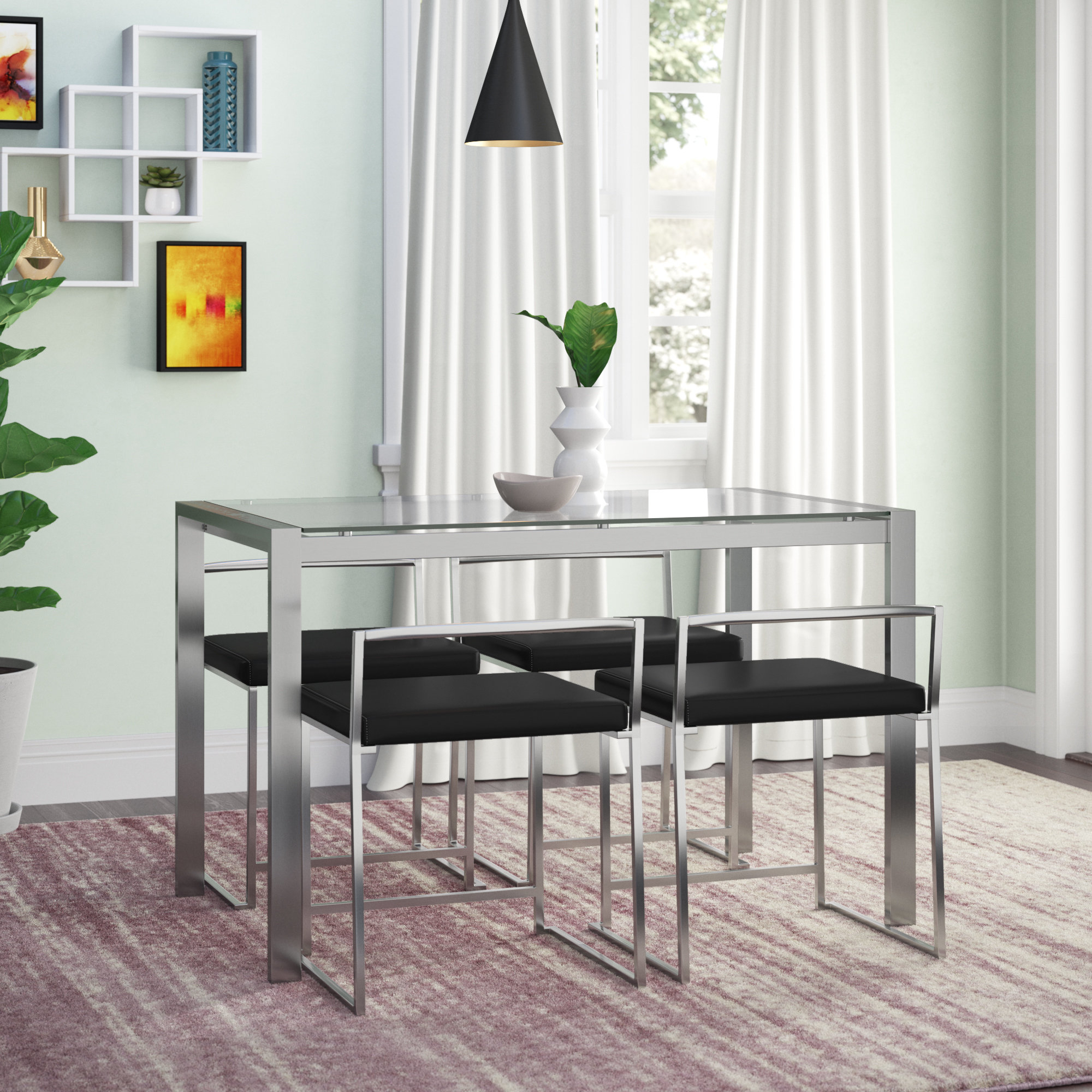Current Tavarez 5 Piece Dining Sets With Gary 5 Piece Dining Set (View 2 of 20)