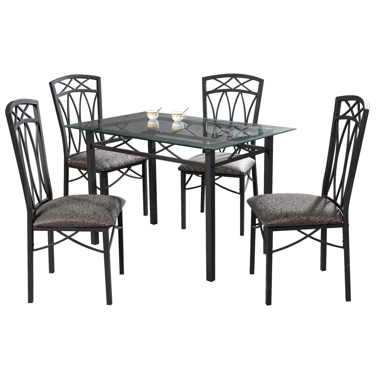 Current Turnalar 5 Piece Dining Sets Inside Queener 5 Piece Dining Set (Gallery 6 of 20)