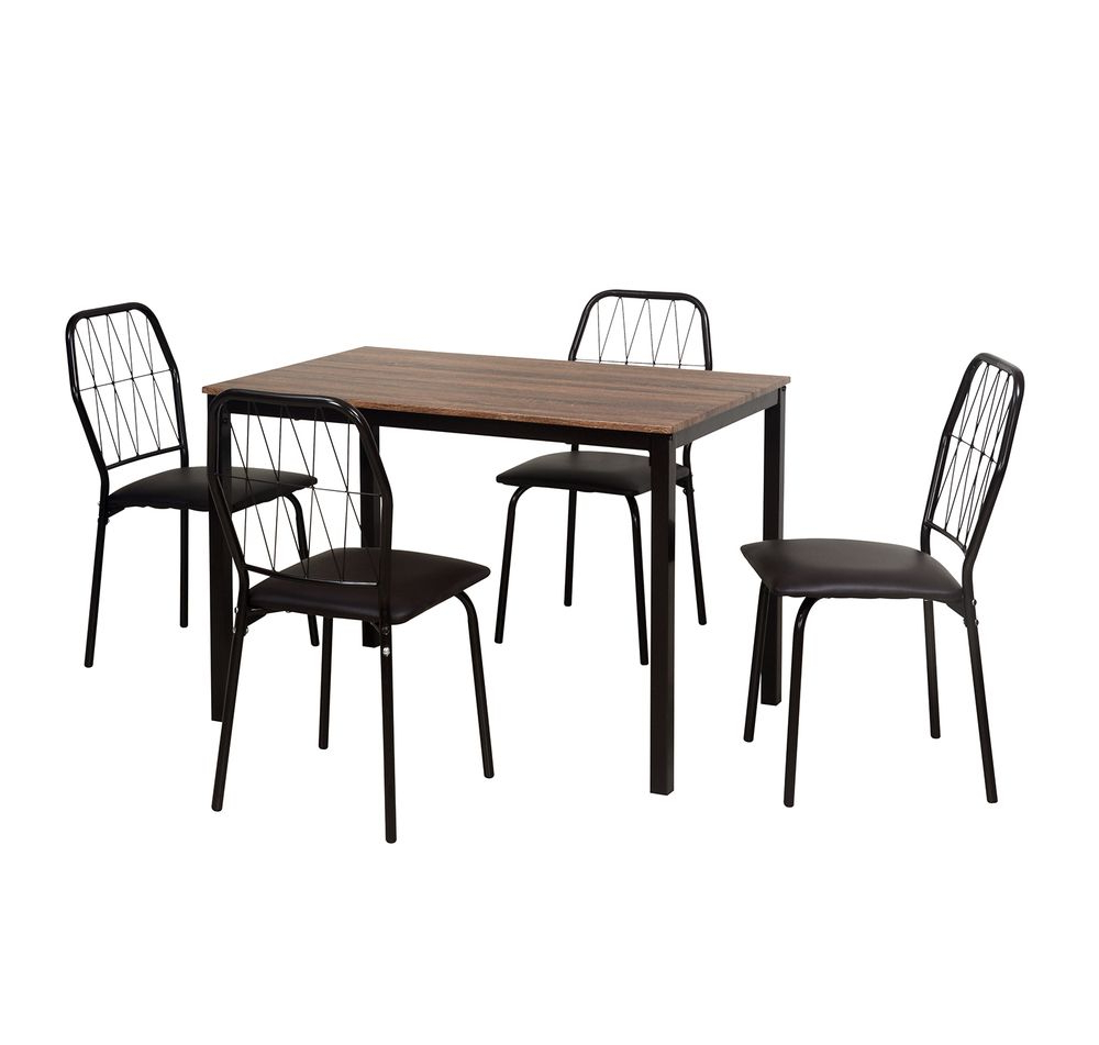 Danish 4 Seater Dining Set – @homenilkamal, Chocolate In 2019 Within Best And Newest Telauges 5 Piece Dining Sets (View 16 of 20)