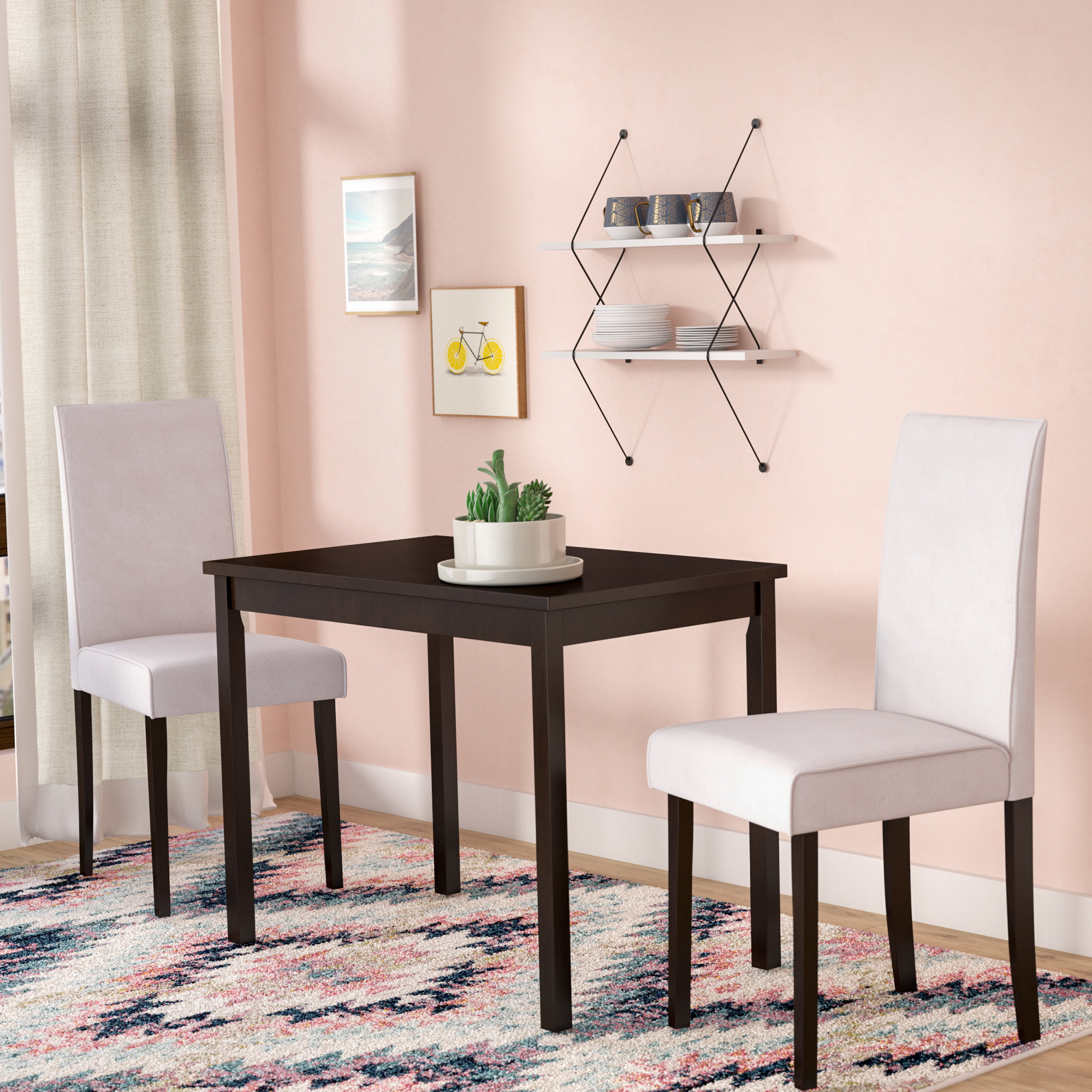 Darvell 3 Piece Dining Set Regarding Most Popular Baillie 3 Piece Dining Sets (View 8 of 20)
