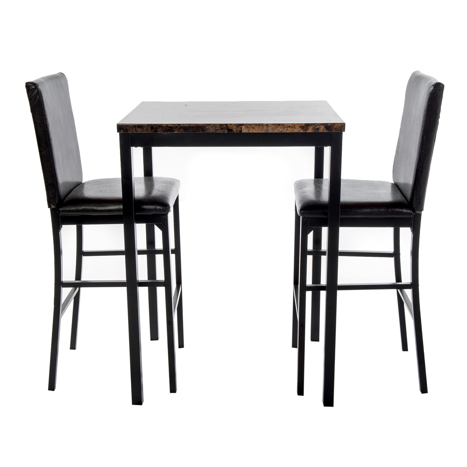 Della 3 Piece Bistro Pub Table Set In Preferred Anette 3 Piece Counter Height Dining Sets (View 4 of 20)