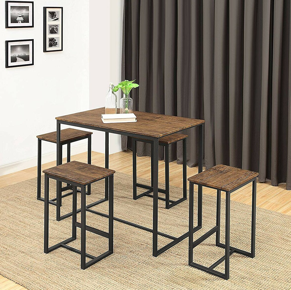 Delmar 5 Piece Dining Set For Well Liked Wallflower 3 Piece Dining Sets (View 5 of 20)