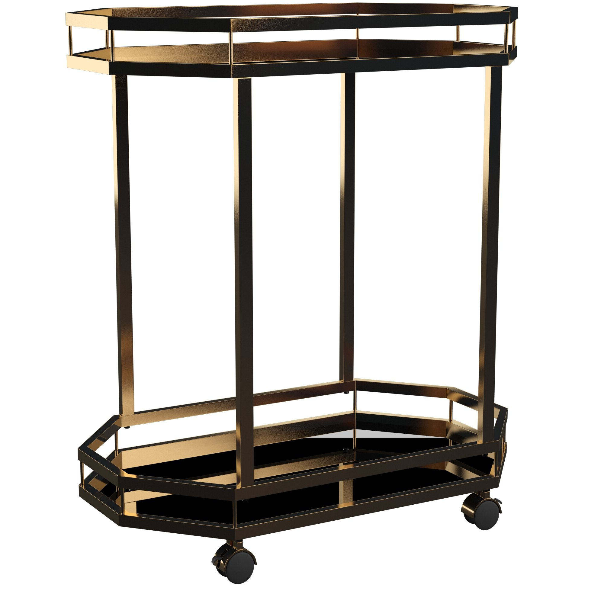 Deschenes Bar Cart In Well Liked Ganya 5 Piece Dining Sets (View 4 of 20)
