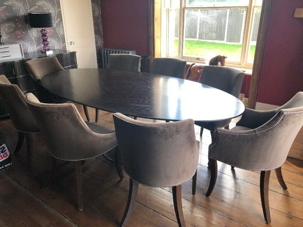 Designer Julian Chichester Dakota Dining Table With 8 Chairs (Gallery 7 of 20)