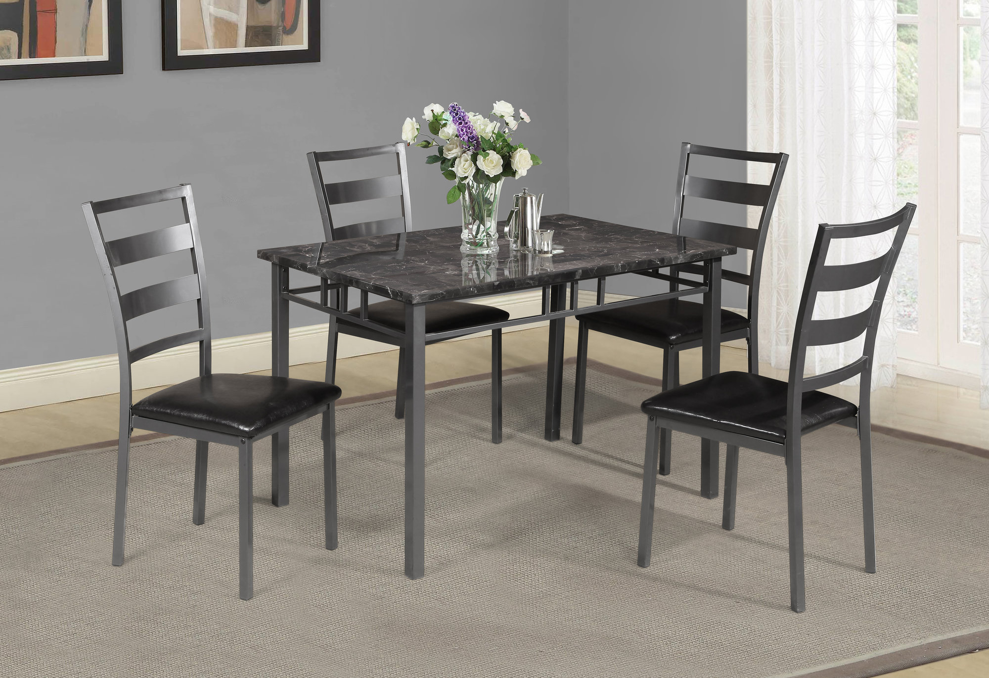 Details About Winston Porter Berke 5 Piece Dining Set Throughout Trendy Miskell 3 Piece Dining Sets (View 4 of 20)