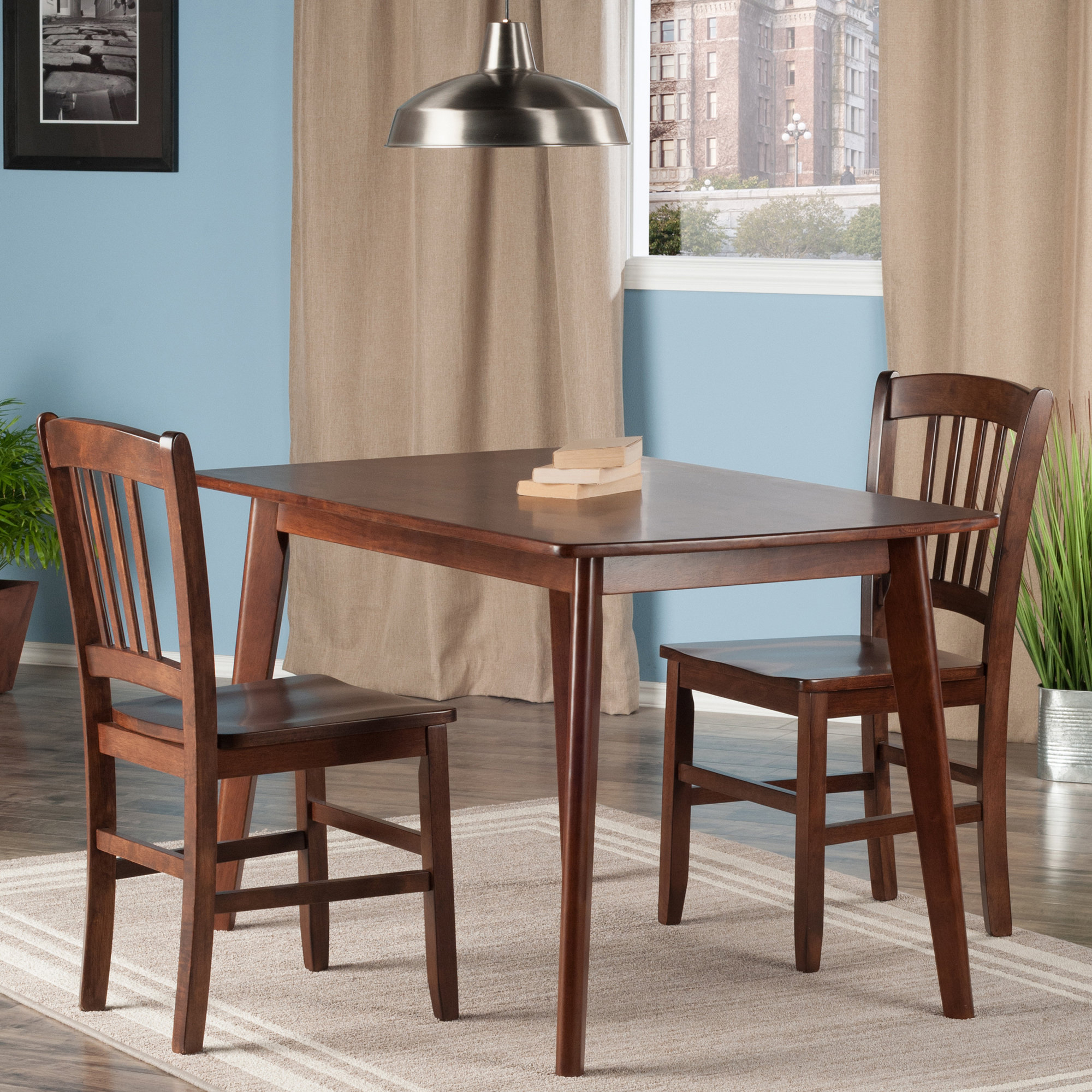 Details About Winston Porter Guynn 3 Piece Solid Wood Dining Set Wnst1156 Inside Current Yedinak 5 Piece Solid Wood Dining Sets (Gallery 11 of 20)