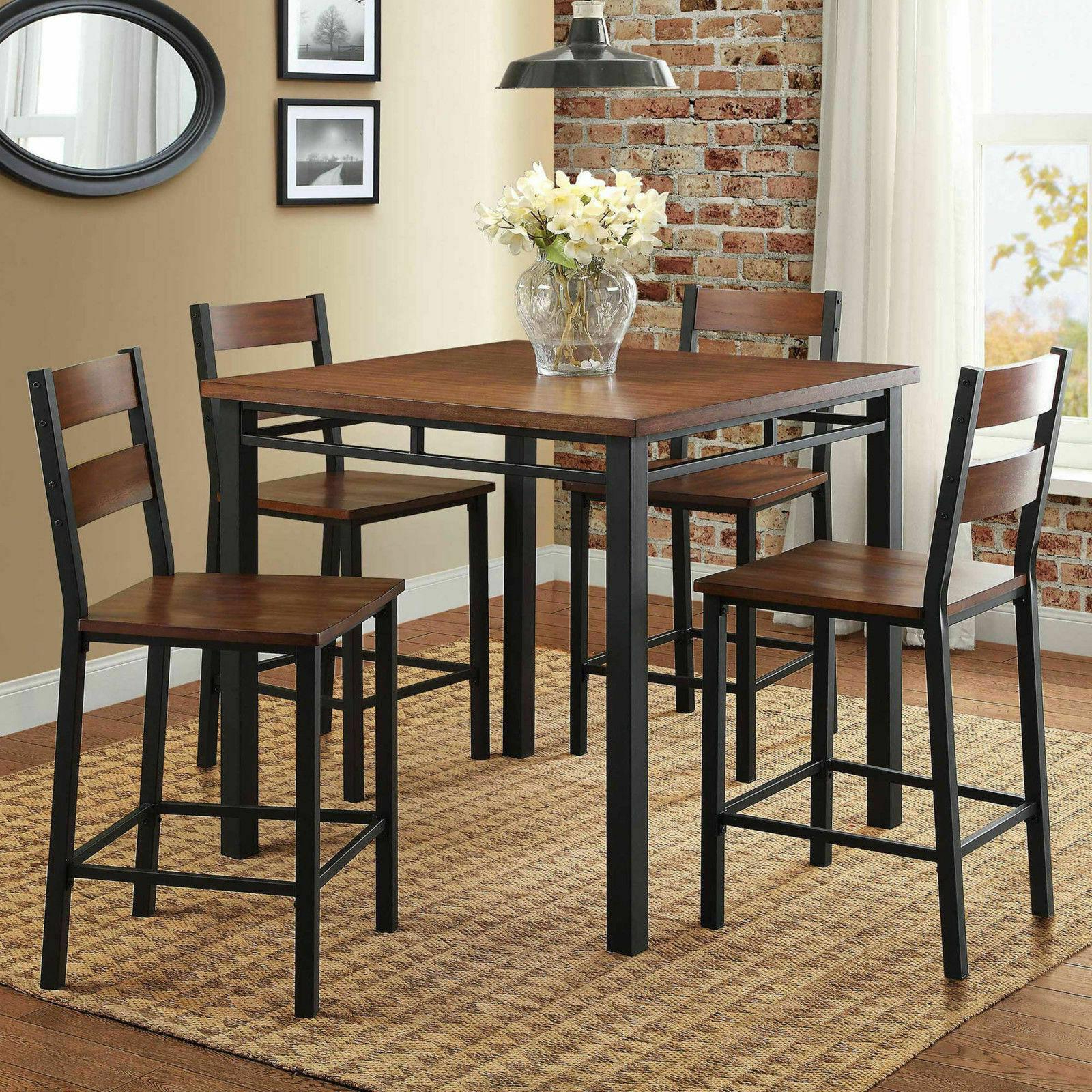 Dining Set Counter Height Table 5 Piece Regarding Preferred Noyes 5 Piece Dining Sets (View 3 of 20)