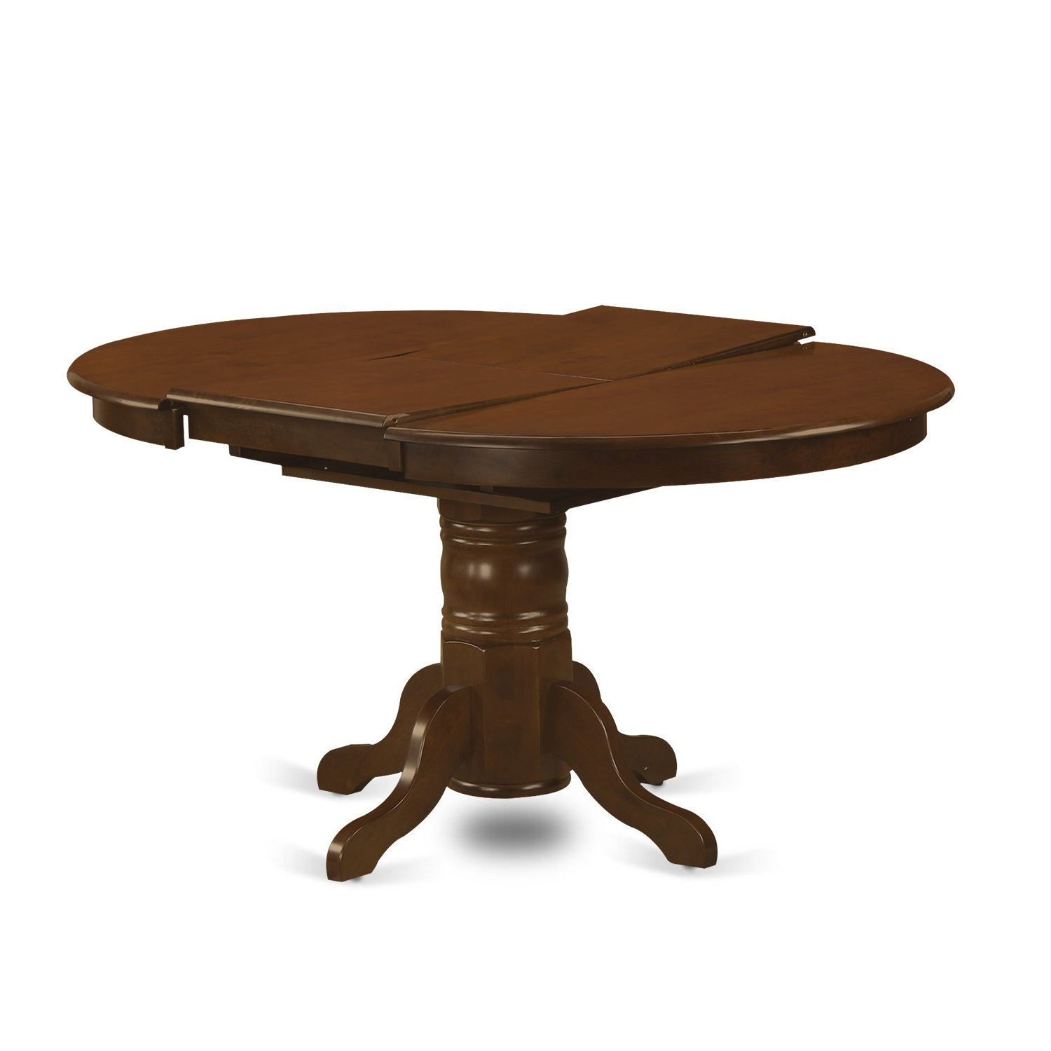 "East West Furniture Ket Esp Tp Kenley Oval Single Pedestal Dining Table With 18"" Butterfly Leaf, 42"" X 60"" Within Famous West Hill Family Table 3 Piece Dining Sets (Gallery 13 of 20)"