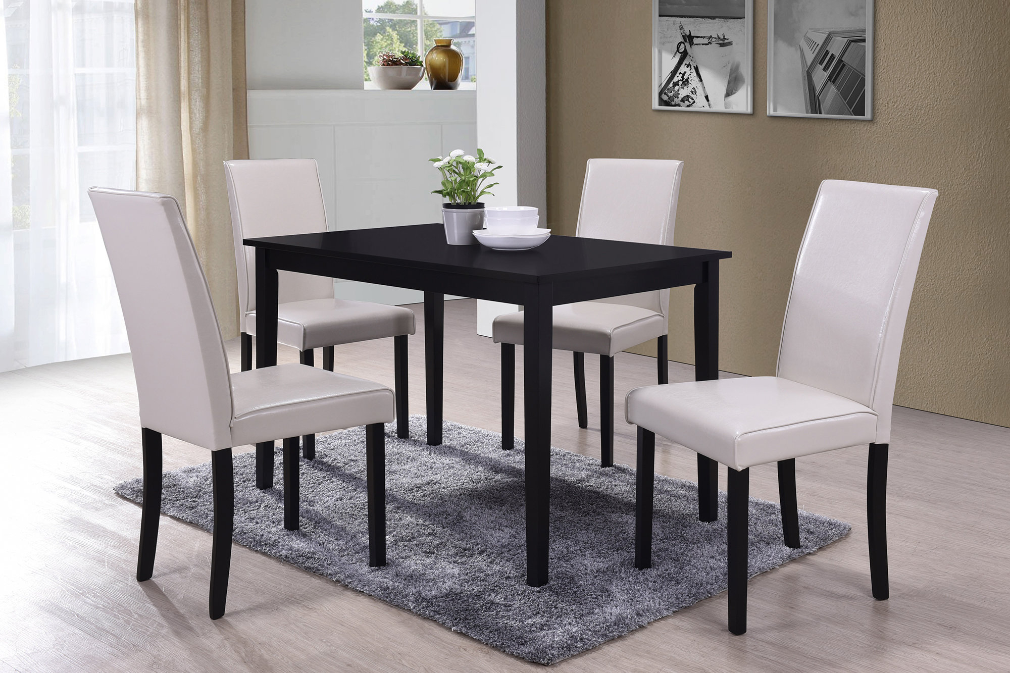 Ebern Designs Macneil 5 Piece Dining Set Pertaining To Latest Travon 5 Piece Dining Sets (Gallery 4 of 20)