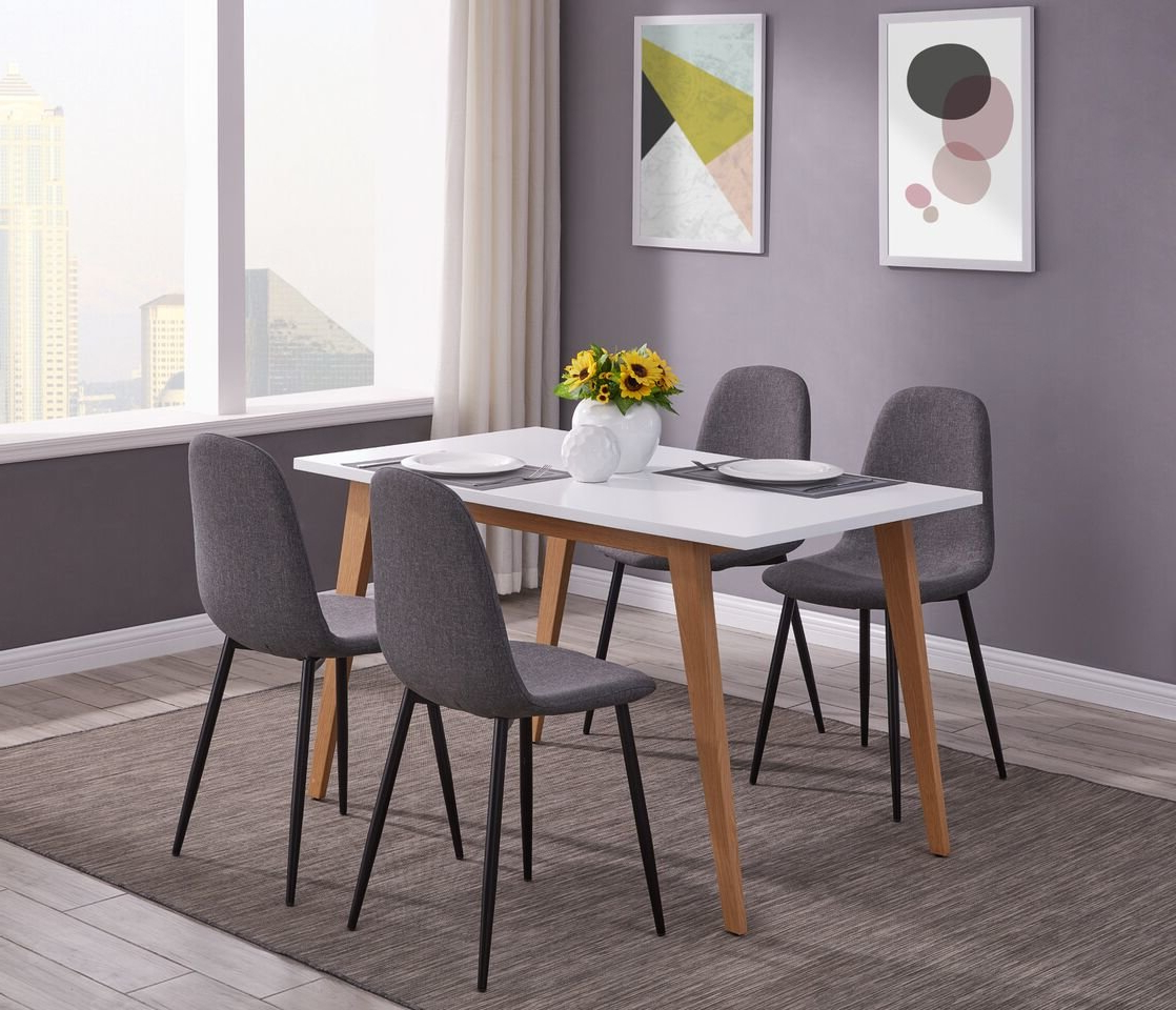 Eddie 5 Pieces Dining Set Regarding Famous Tejeda 5 Piece Dining Sets (View 3 of 20)