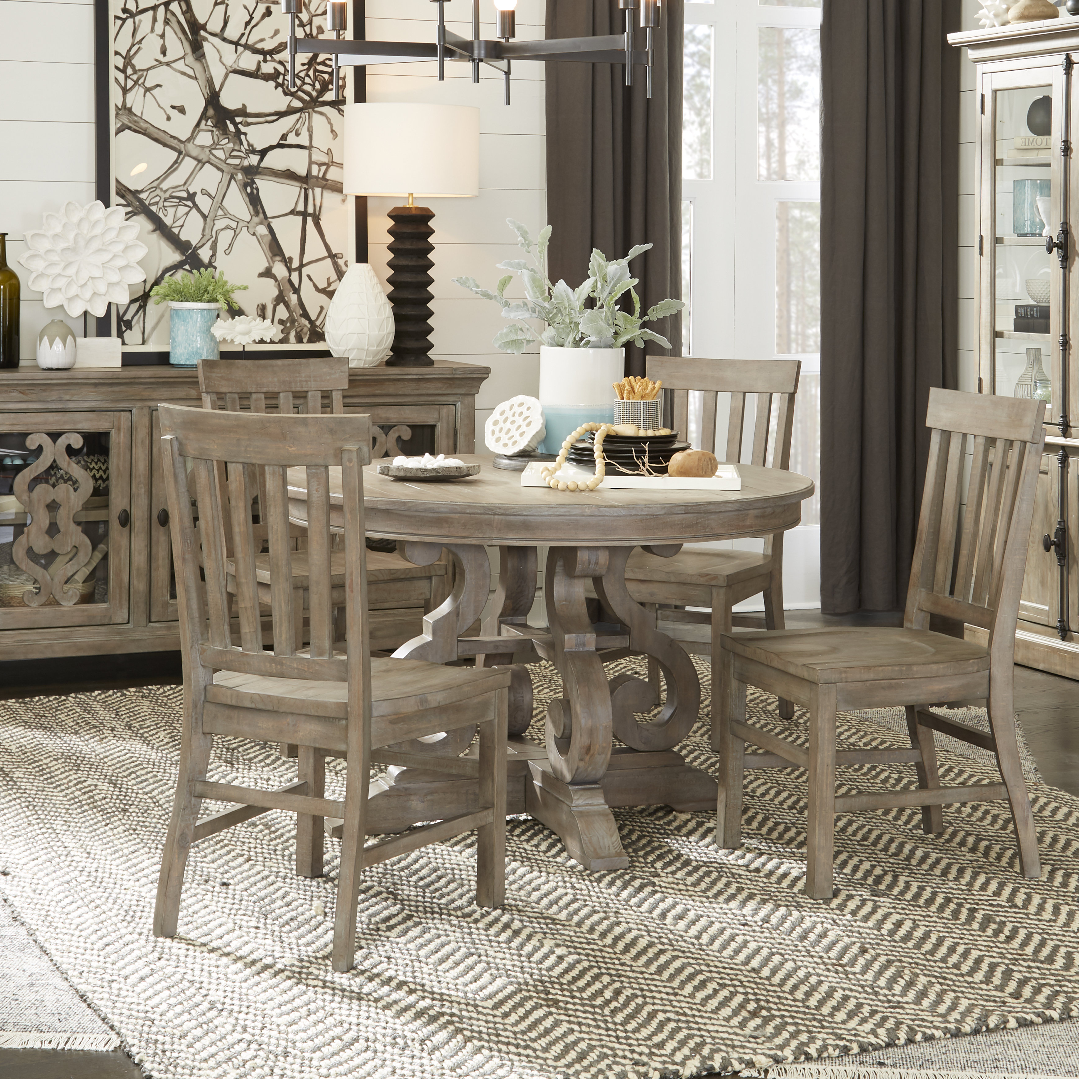 Ellenton 5 Piece Solid Wood Dining Set Within Well Known Yedinak 5 Piece Solid Wood Dining Sets (View 4 of 20)