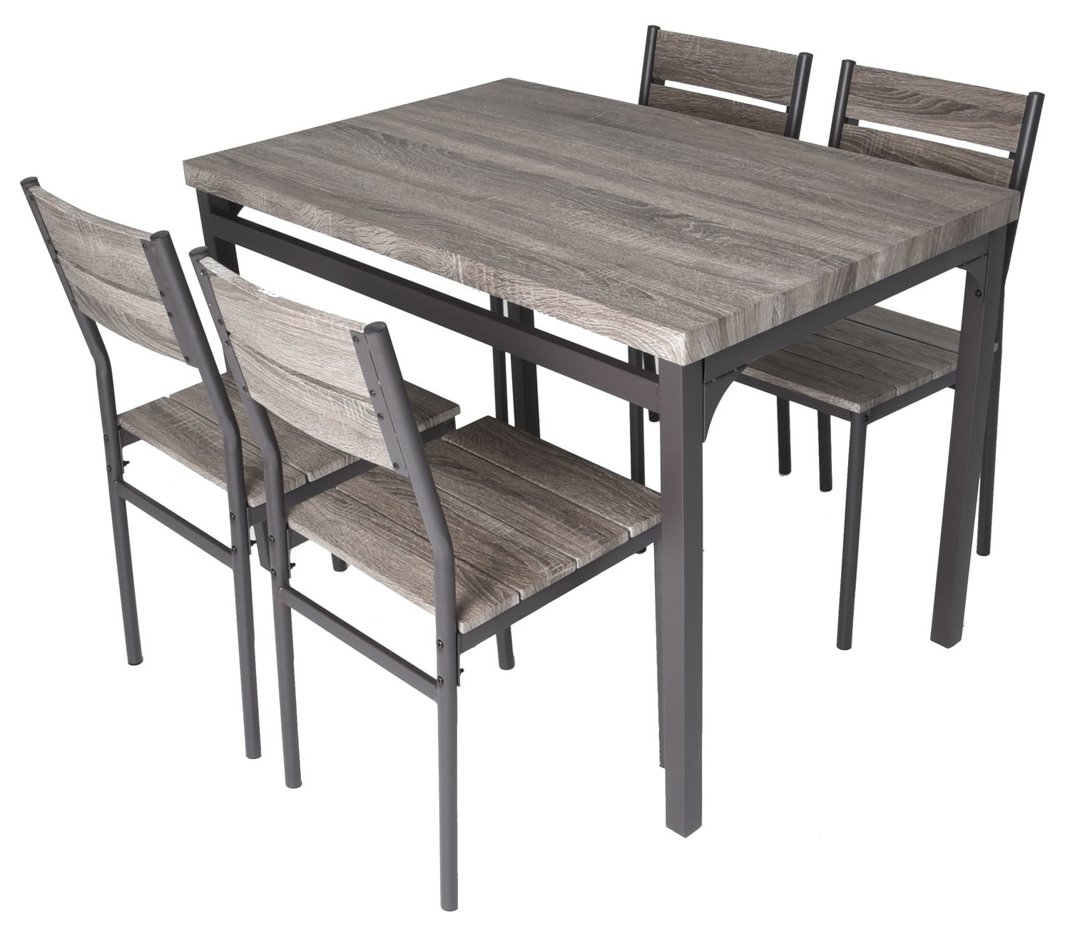 Emmeline 5 Piece Breakfast Nook Dining Set With Well Known Castellanos Modern 5 Piece Counter Height Dining Sets (View 8 of 20)