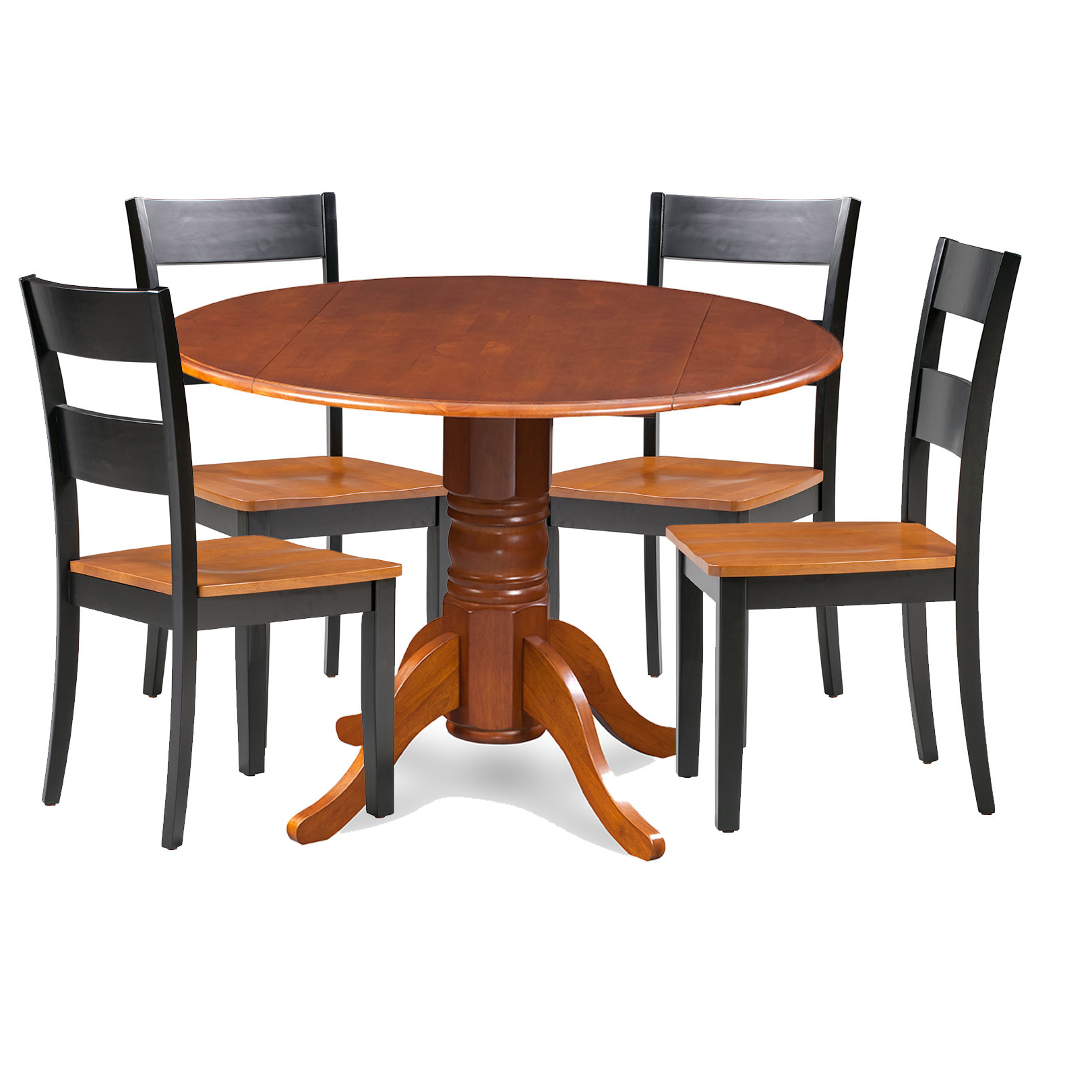 Emmeline 5 Piece Breakfast Nook Dining Sets Intended For Preferred Charlton Home Cordell 5 Piece Drop Leaf Breakfast Nook Solid Wood Dining Set (View 7 of 20)