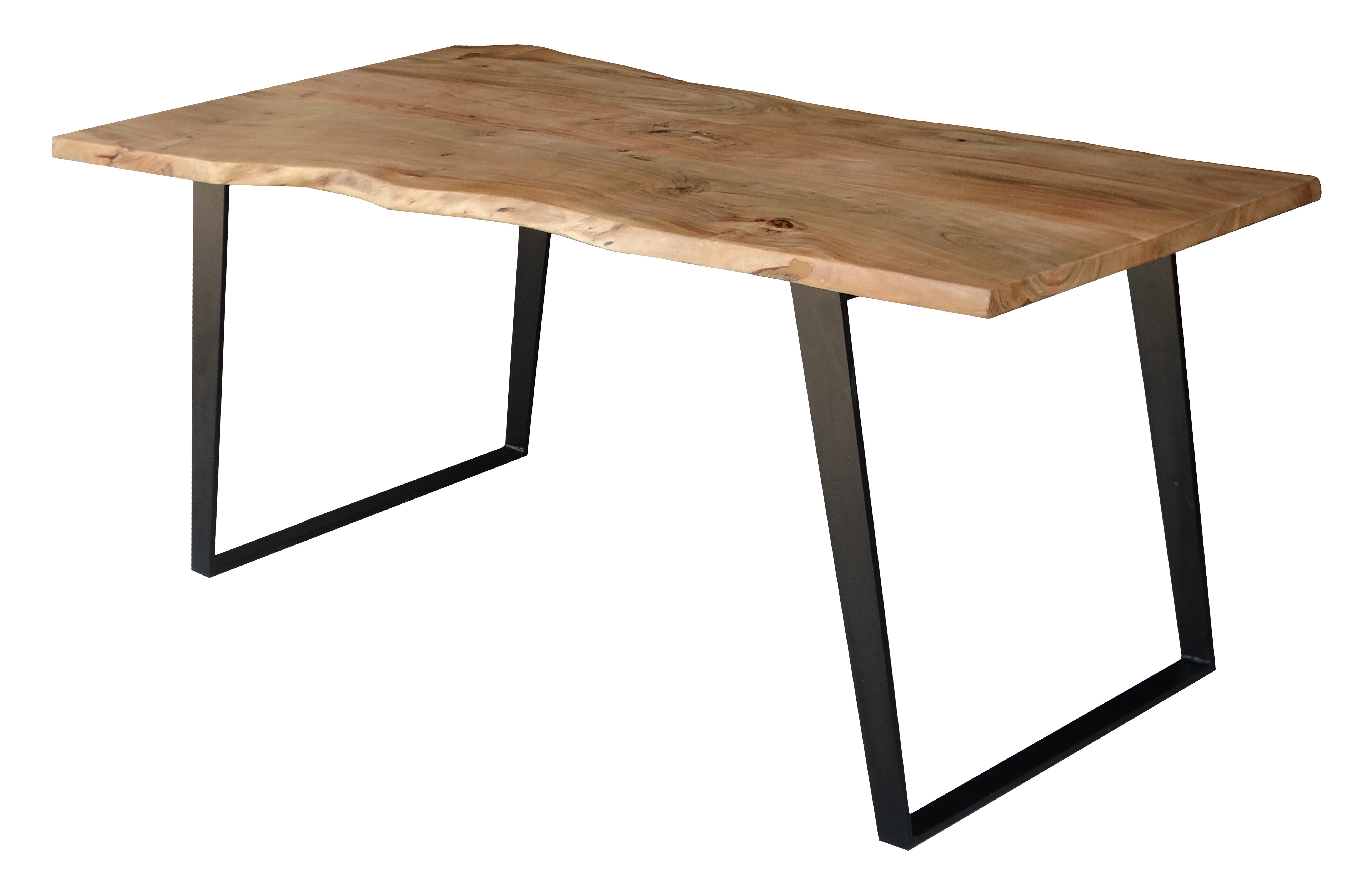Emmeline 5 Piece Breakfast Nook Dining Sets Pertaining To Most Popular Emmeline Solid Wood Live Edge Dining Table (View 10 of 20)