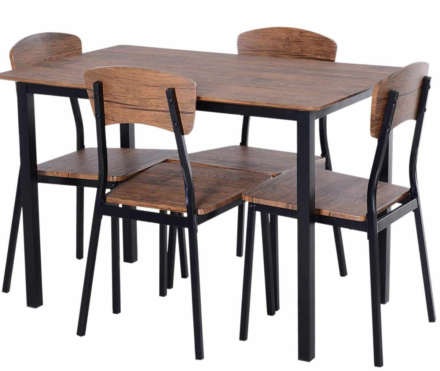 Emmeline 5 Piece Breakfast Nook Dining Sets Pertaining To Most Recently Released Union Rustic Castellanos Modern 5 Piece Counter Height Dining Set (View 7 of 20)