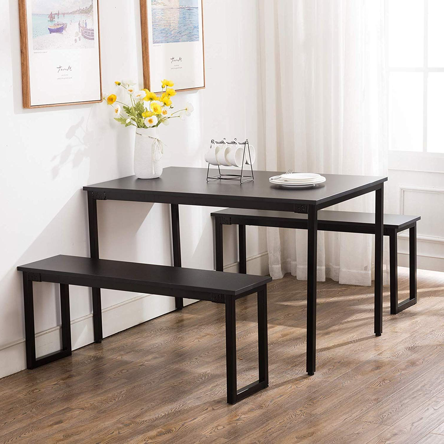 Ephraim 5 Piece Dining Sets Regarding Latest Amazon: Artist Hand Kitchen Dining Table Set Kitchen Dining (View 11 of 20)