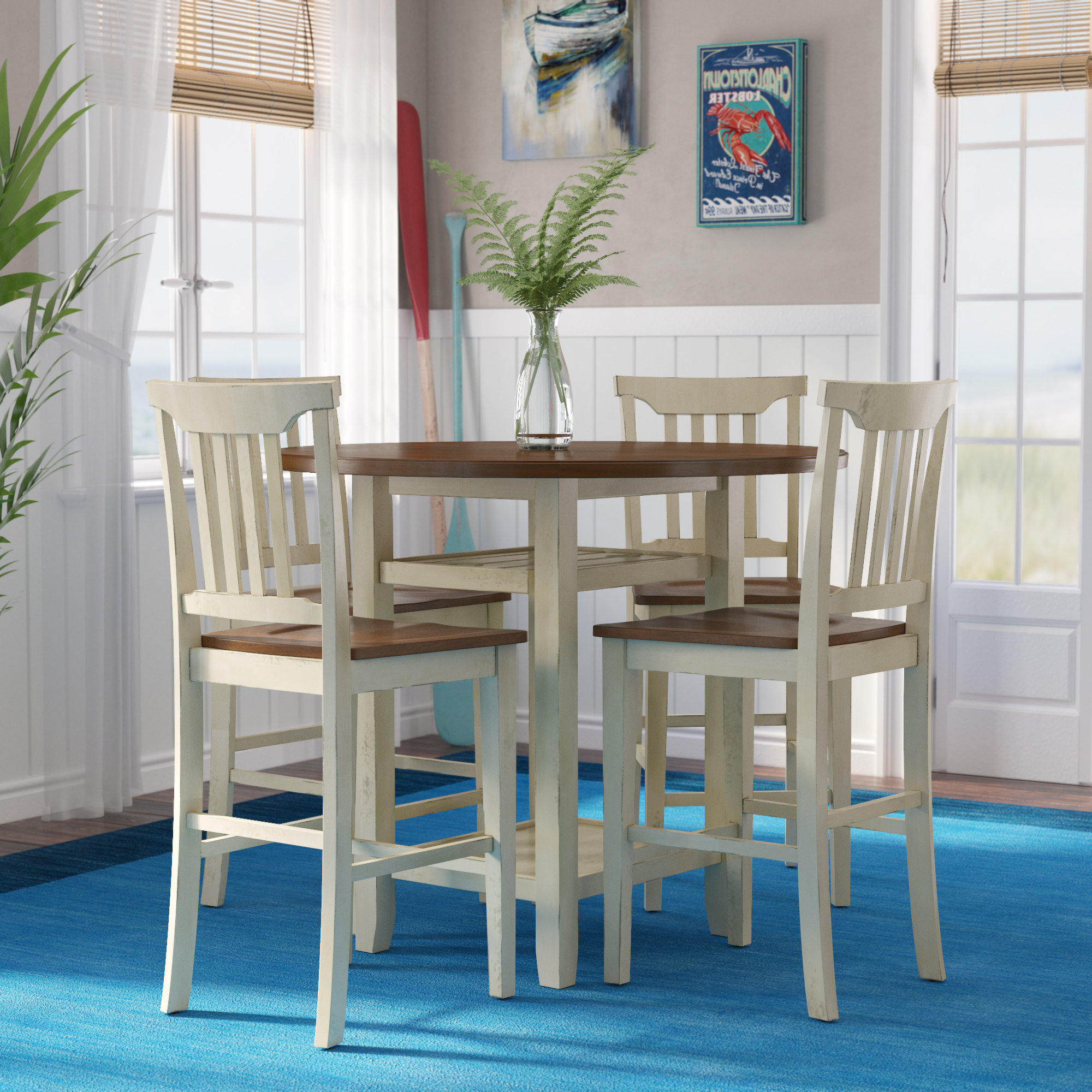 Famous 5 Piece Breakfast Nook Dining Sets Pertaining To Eastep 5 Piece Counter Height Breakfast Nook Dining Set (View 8 of 20)