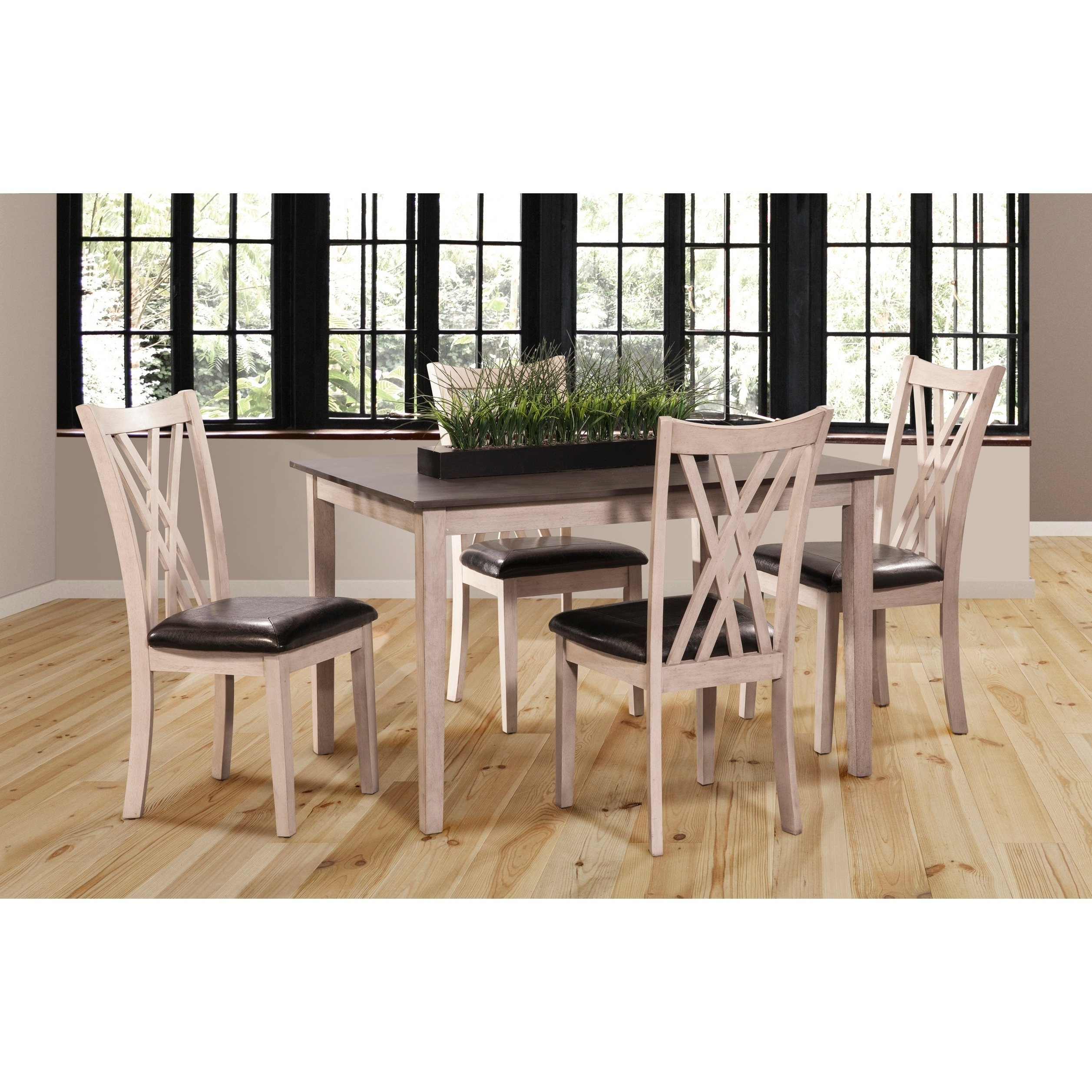 Famous Bryson 5 Piece Dining Sets Intended For Paige Creme And Brown 5 Piece Dining Table Set (Gallery 15 of 20)
