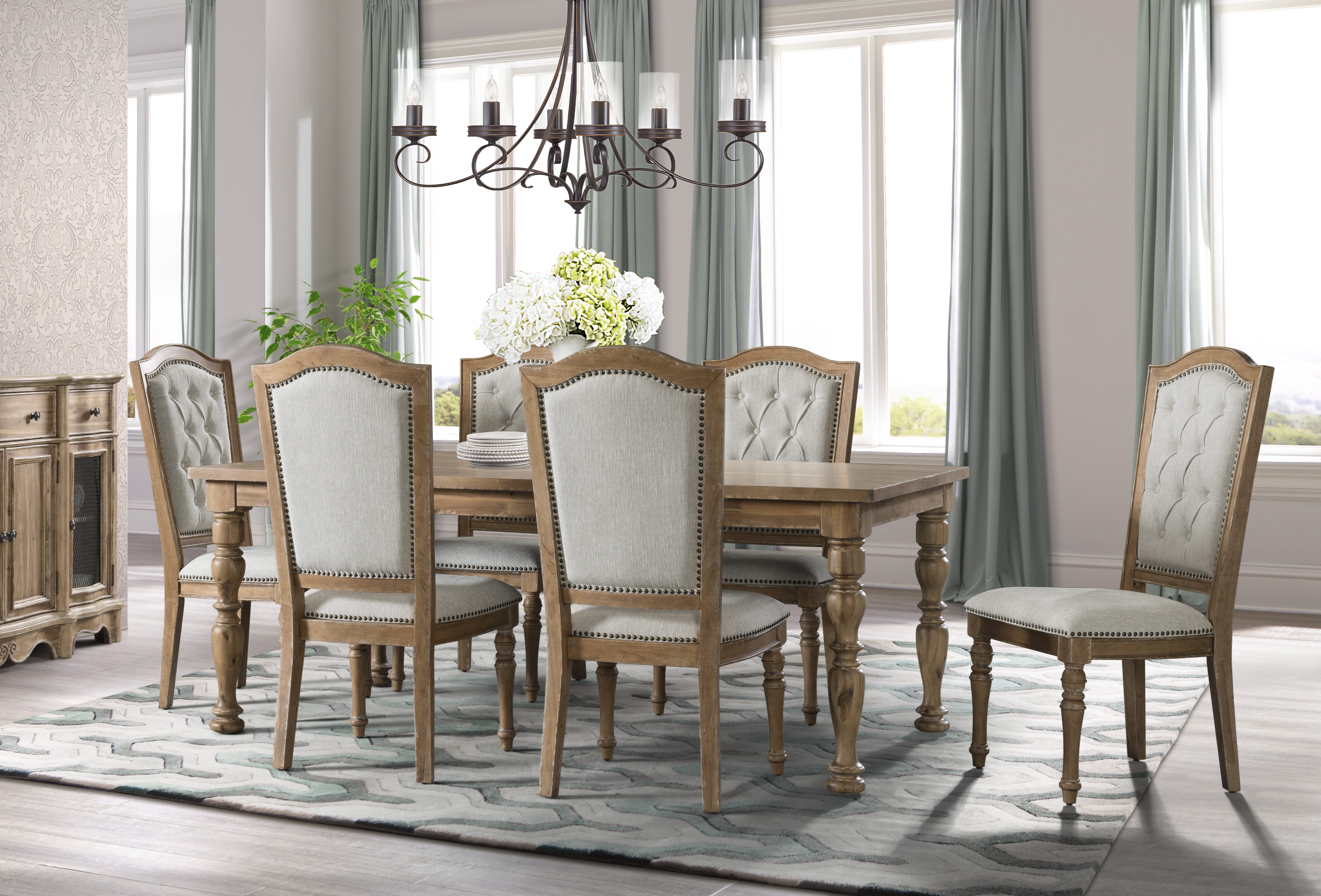 Famous Elena 7 Piece Dining Set Within Queener 5 Piece Dining Sets (Gallery 11 of 20)