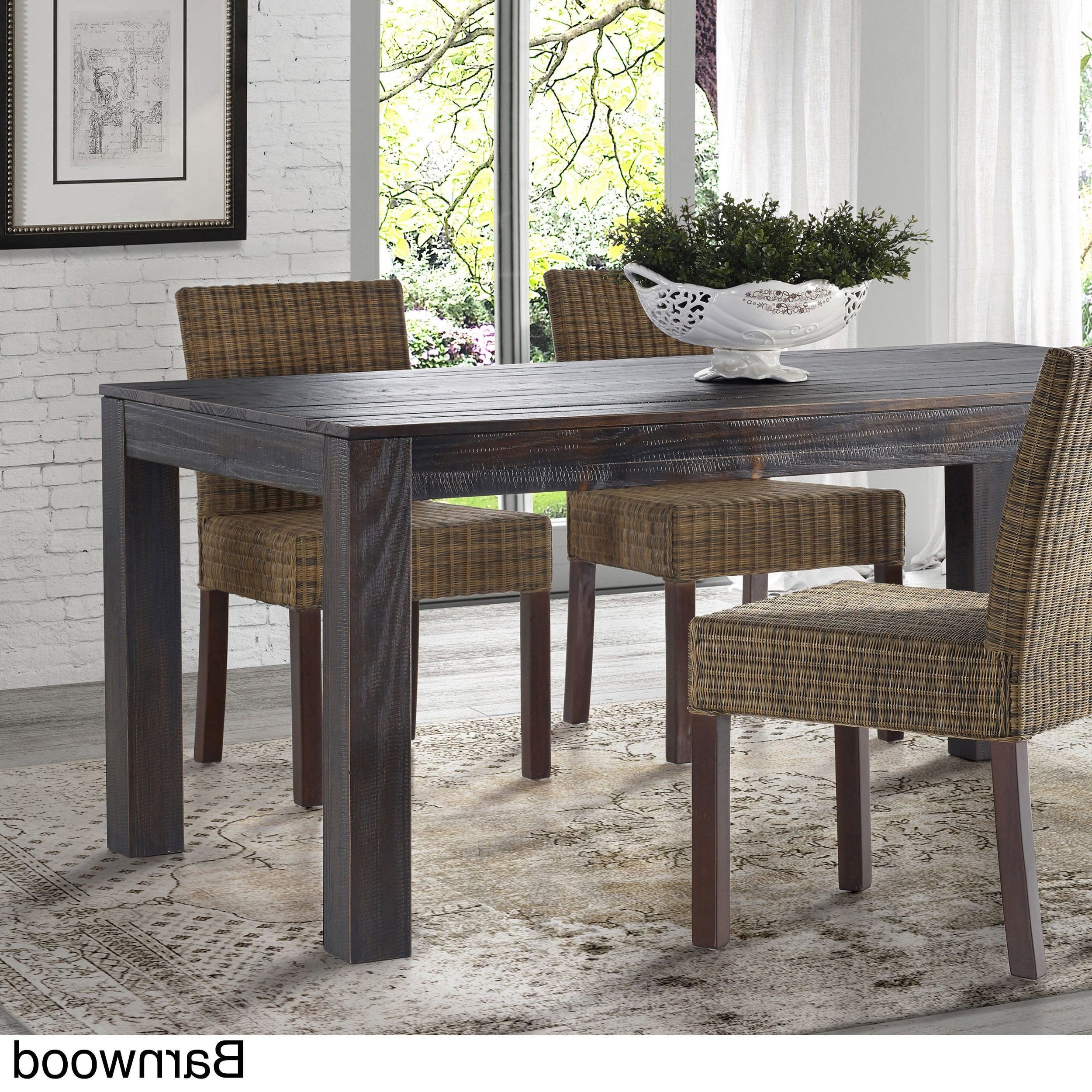 Famous Grain Wood Furniture – Montauk Dining Table – Solid Wood (Driftwood With Mukai 5 Piece Dining Sets (Gallery 20 of 20)