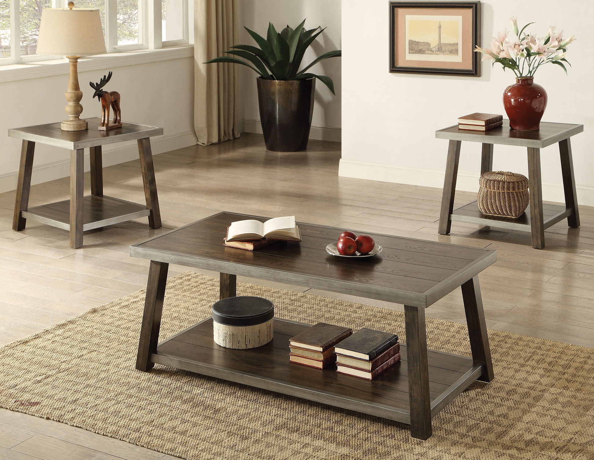 Famous Madelia 3 Piece Coffee Table Set With Regard To Valladares 3 Piece Pub Table Sets (View 17 of 20)