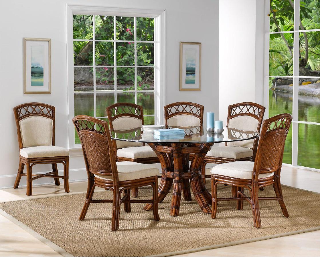 Famous Saintcroix 3 Piece Dining Sets For Saint Croix 8 Piece Dining Set With 6 Side Chairs From Classic Rattan Model 1460 Set (View 12 of 20)