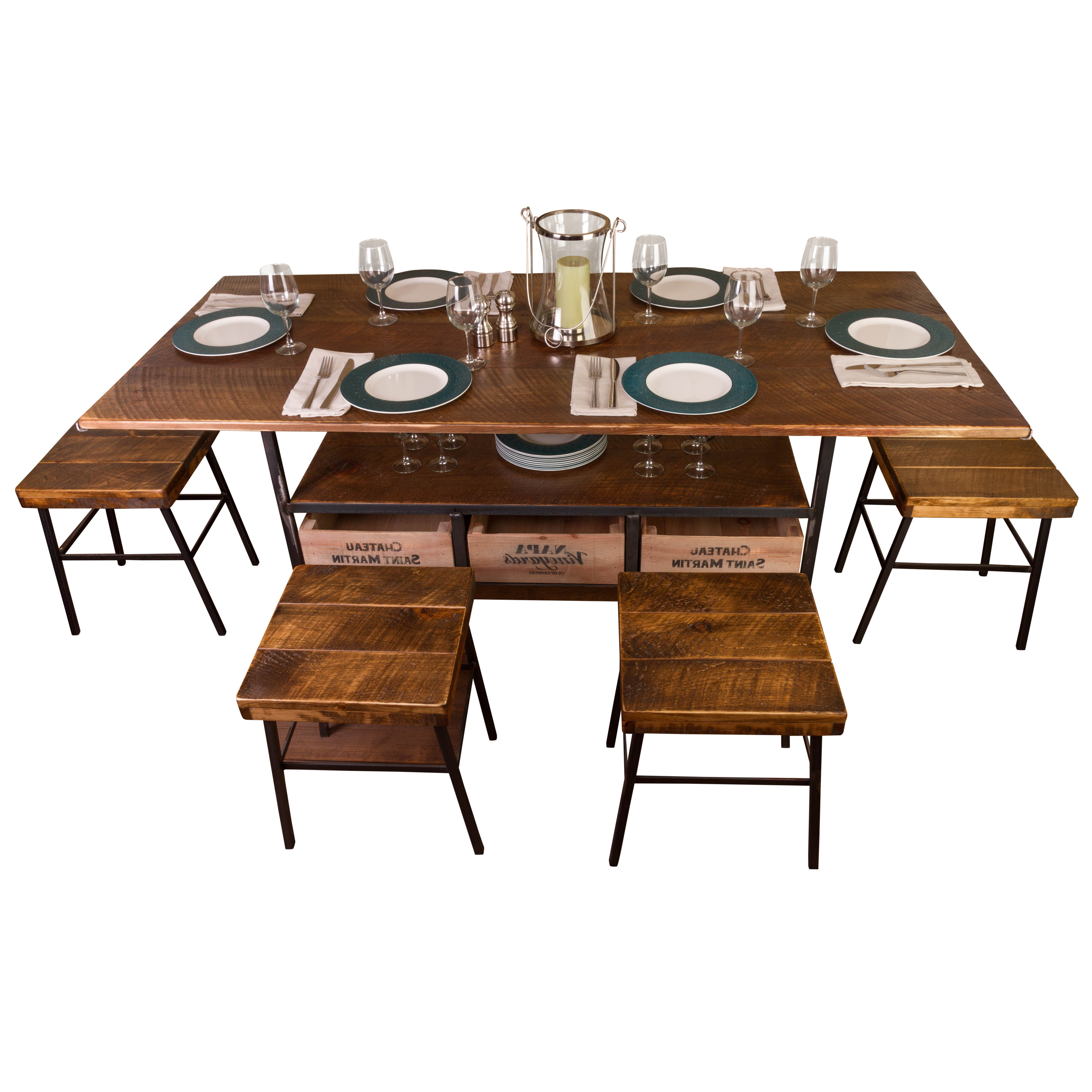 Farm 7 Piece Dining Table Pertaining To Recent Shepparton Vintage 3 Piece Dining Sets (View 11 of 20)