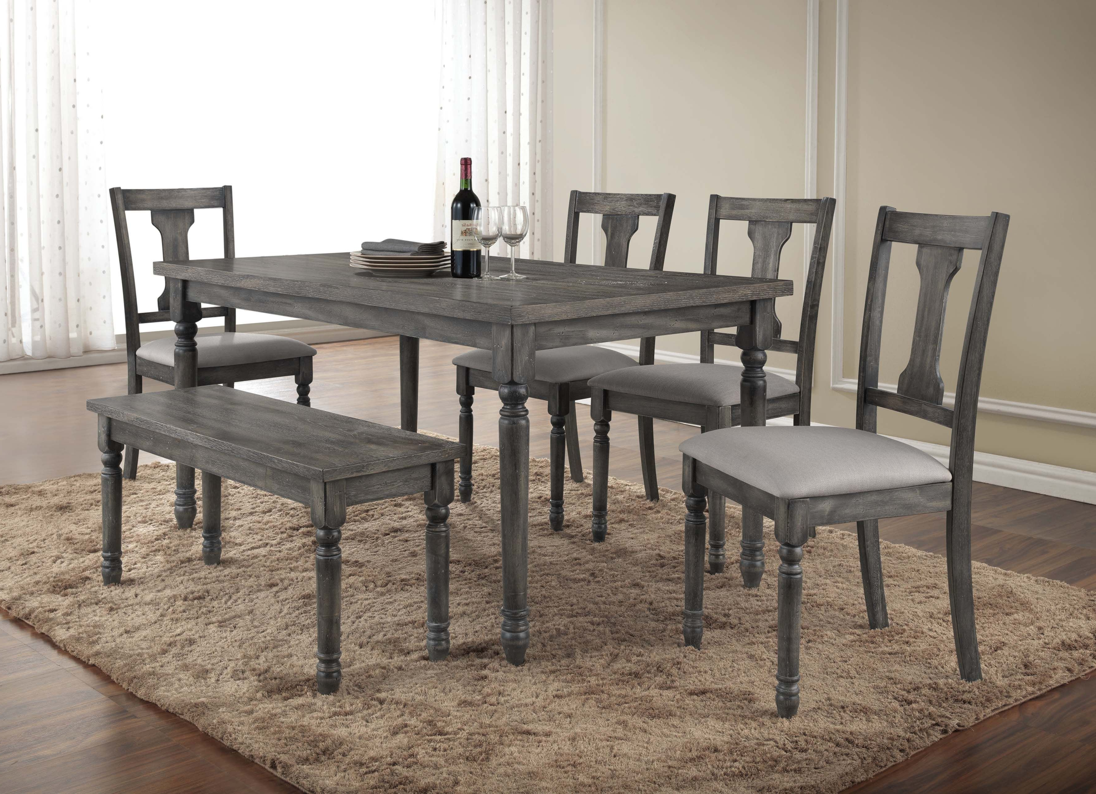 Farmhouse & Rustic 6 Piece Dining Sets (Gallery 6 of 20)