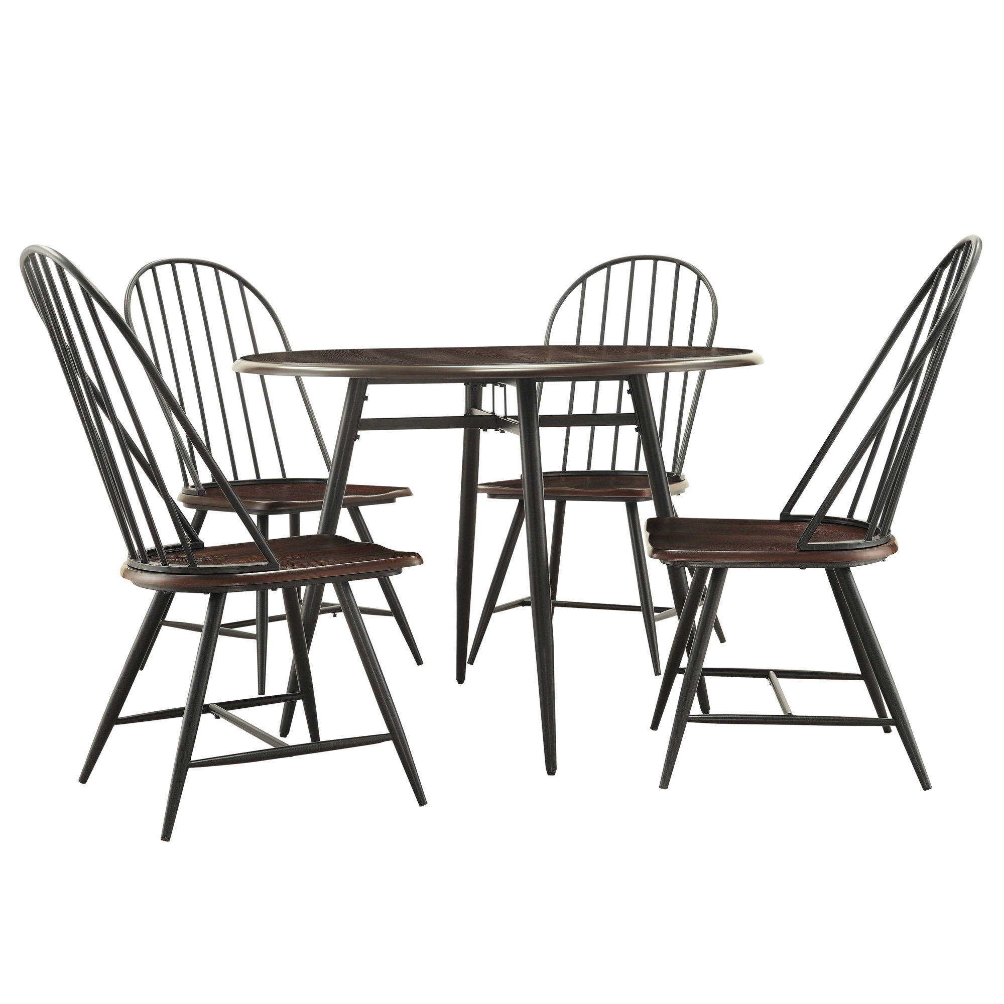 Fashionable Hughley 5 Piece Dining Set In Telauges 5 Piece Dining Sets (View 11 of 20)
