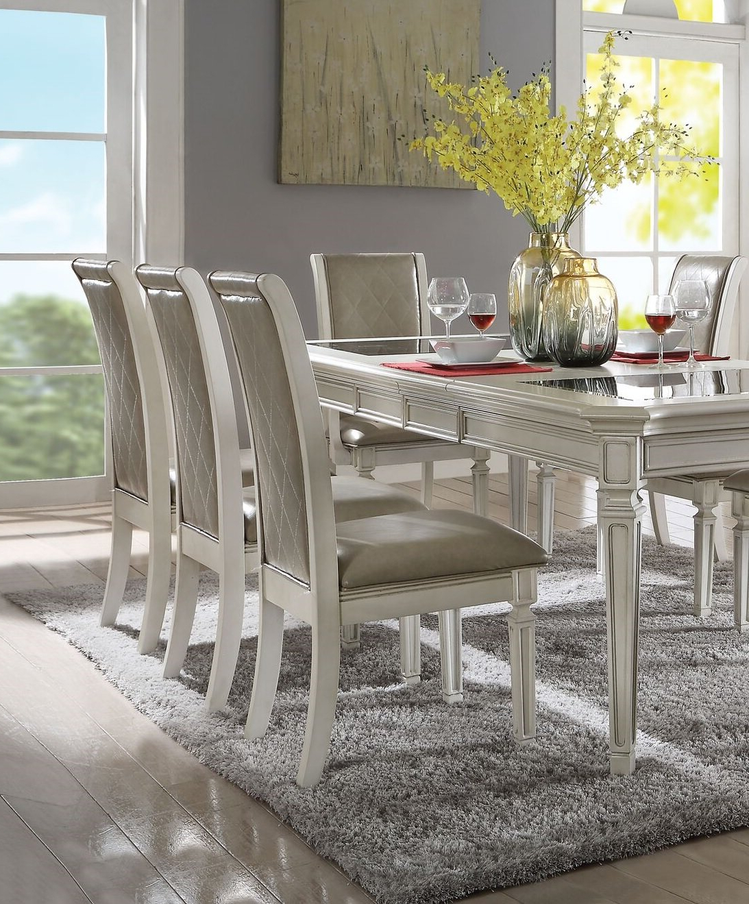 Fashionable Lamotte Upholstered Dining Chair For Lamotte 5 Piece Dining Sets (View 10 of 20)
