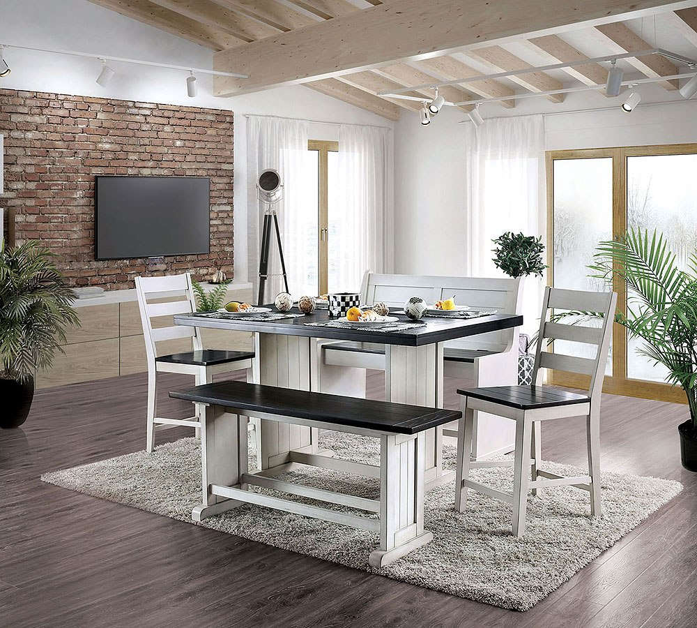Fashionable Liles 5 Piece Breakfast Nook Dining Sets Pertaining To Nekoma Counter Height Dining Set (View 8 of 20)