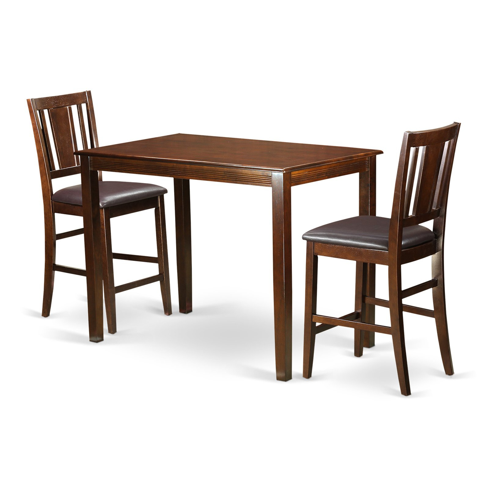 Fashionable Penelope 3 Piece Counter Height Wood Dining Sets Intended For East West Furniture Yarmouth 3 Piece Scotch Art Dining Table Set In (Gallery 15 of 20)