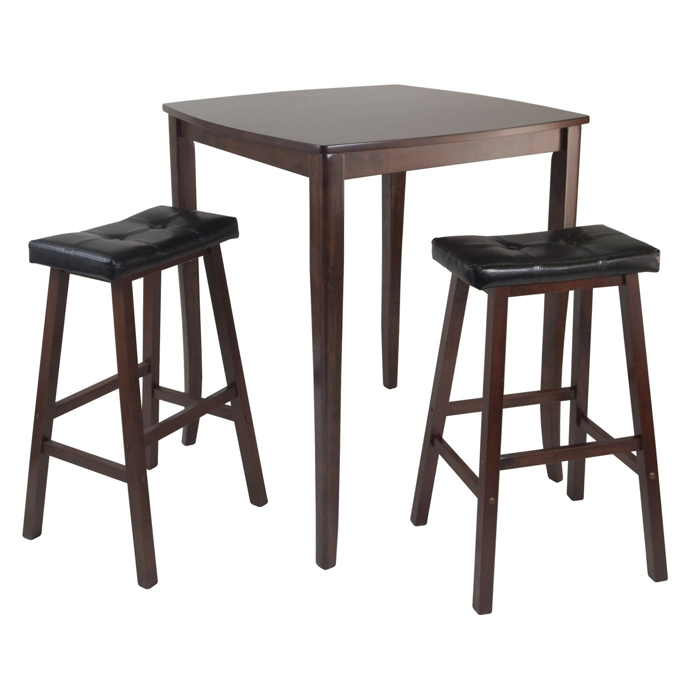 Fashionable Winsome Wood 94360 Inglewood 3 Piece High Pub Table Dining Set With Regard To Winsome 3 Piece Counter Height Dining Sets (View 5 of 20)